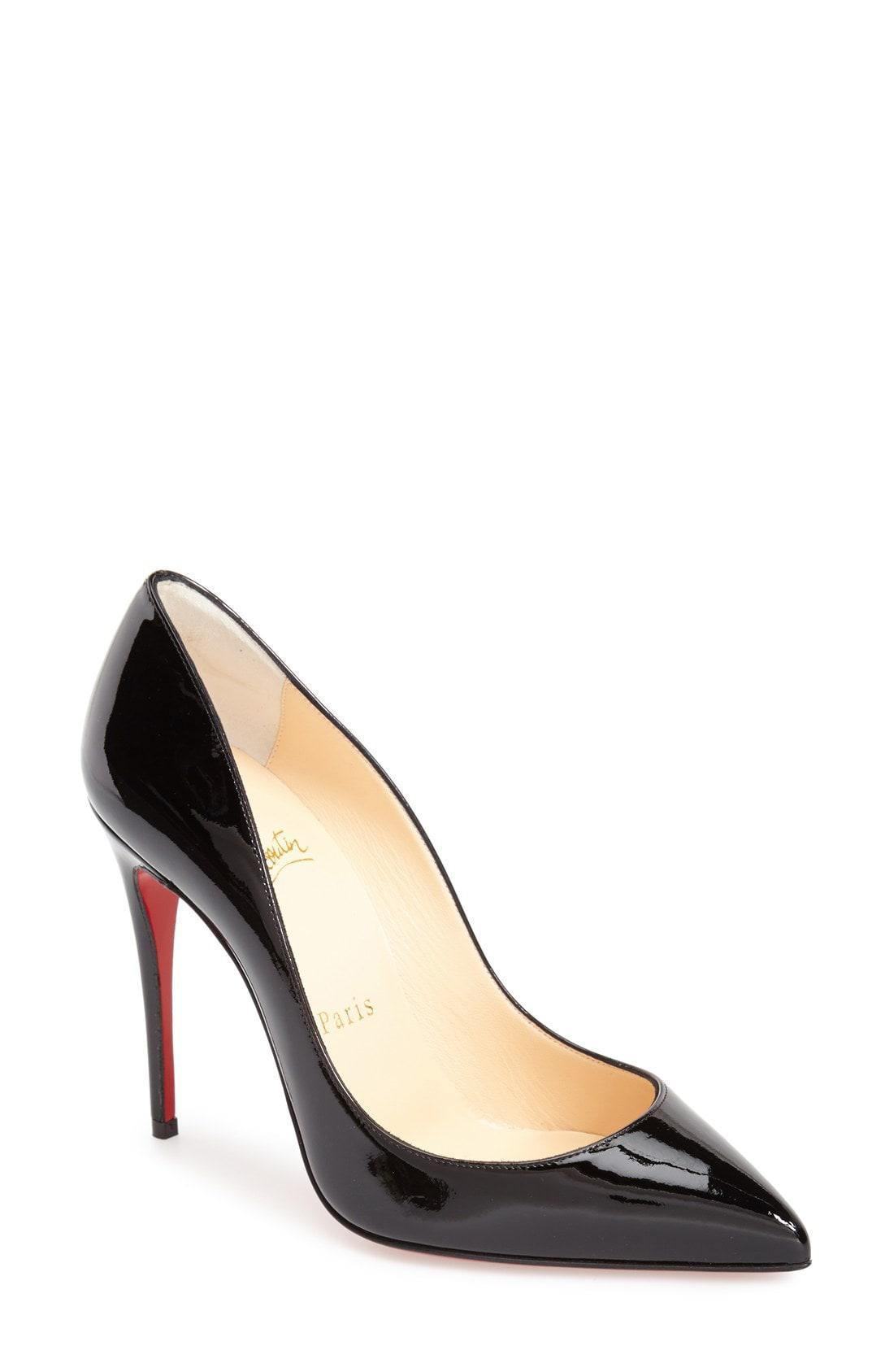 ac3fe850d7c6 Lyst - Christian Louboutin Pigalle Follies Pointy Toe Pump in Black ...