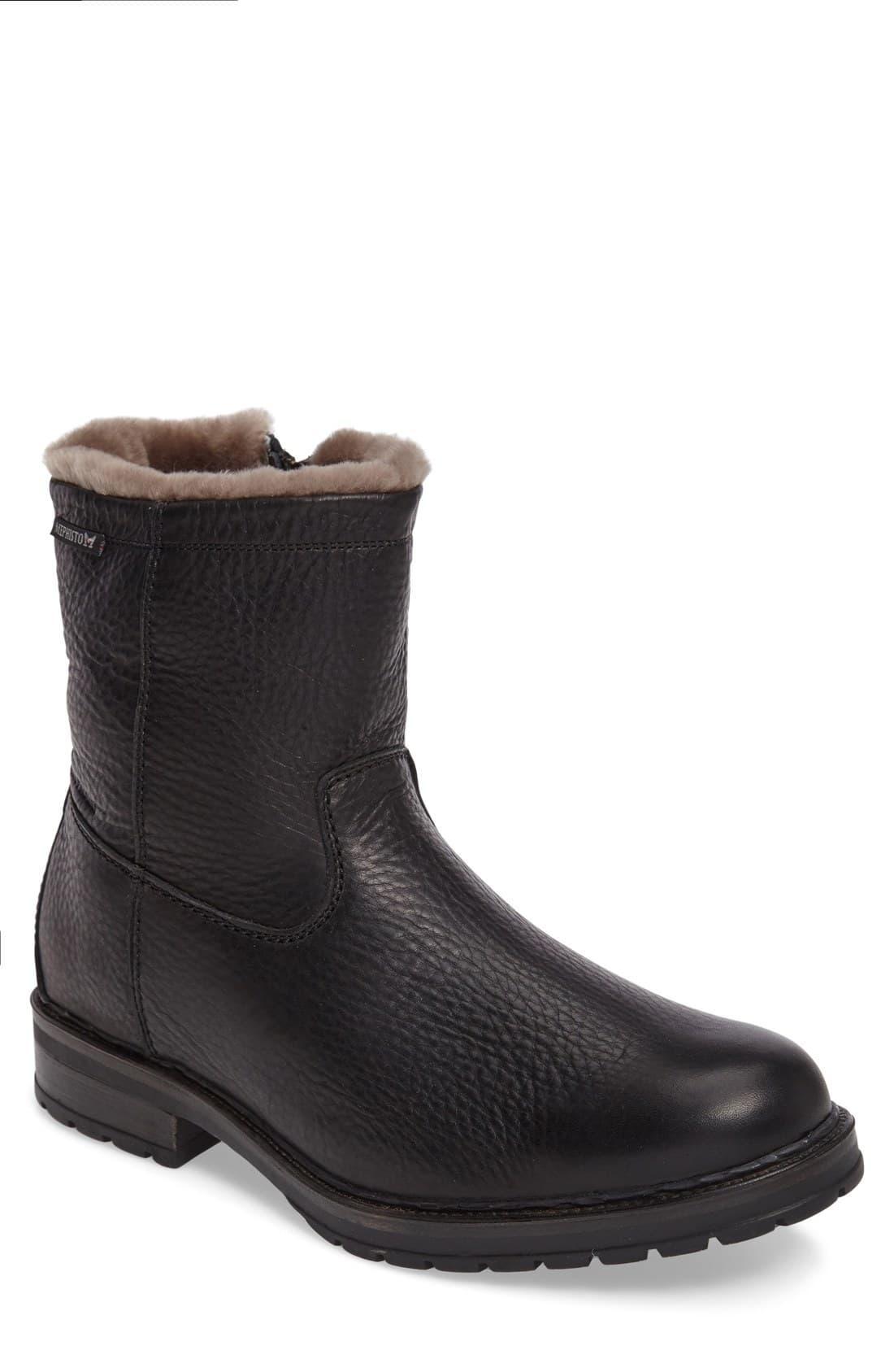 e5c440d1c8 Mephisto Leonardo Genuine Shearling Lined Boot in Brown for Men ...