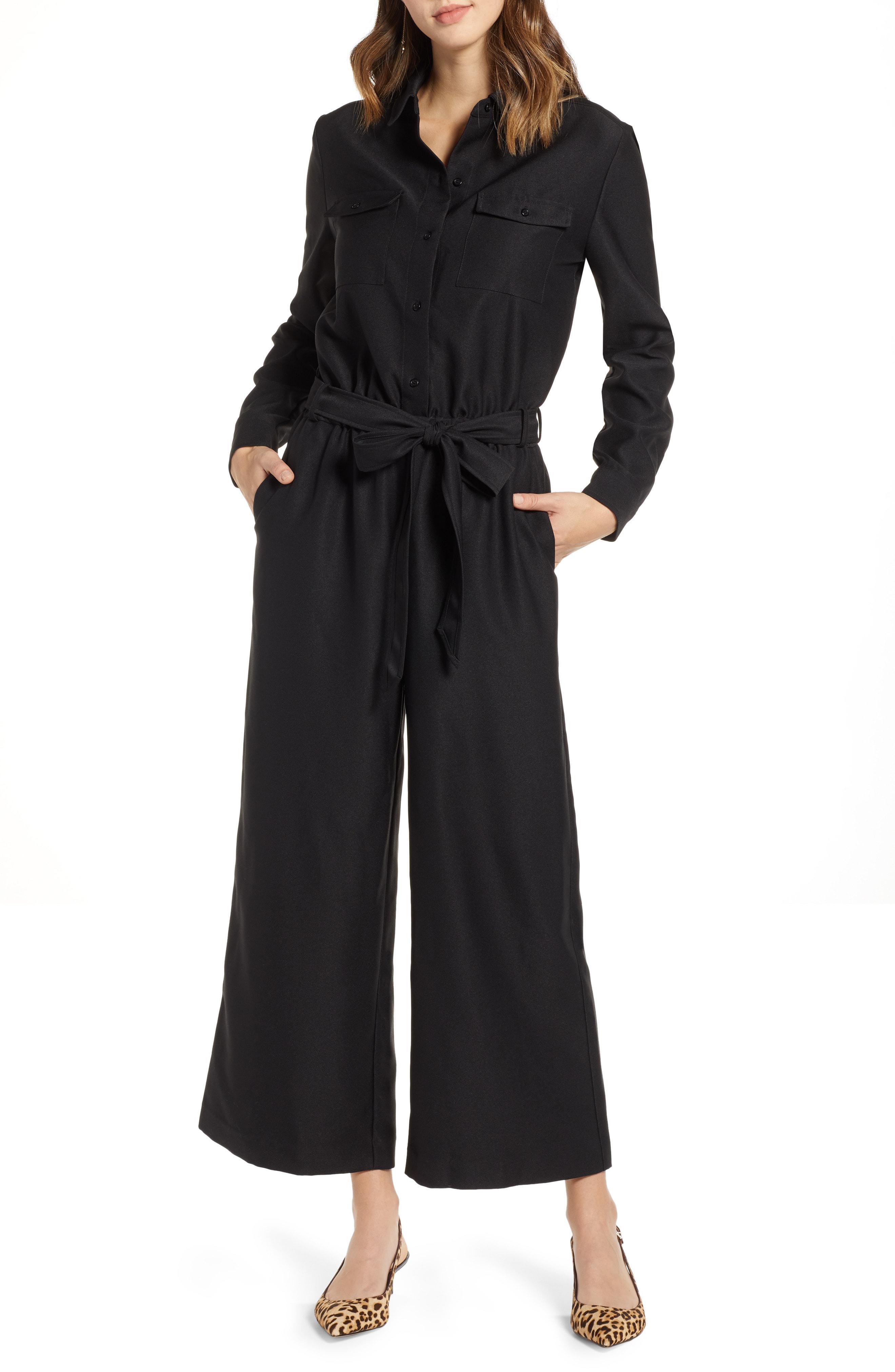 03e871b9b47 Lyst - Nordstrom 1901 Tie Front Jumpsuit in Black