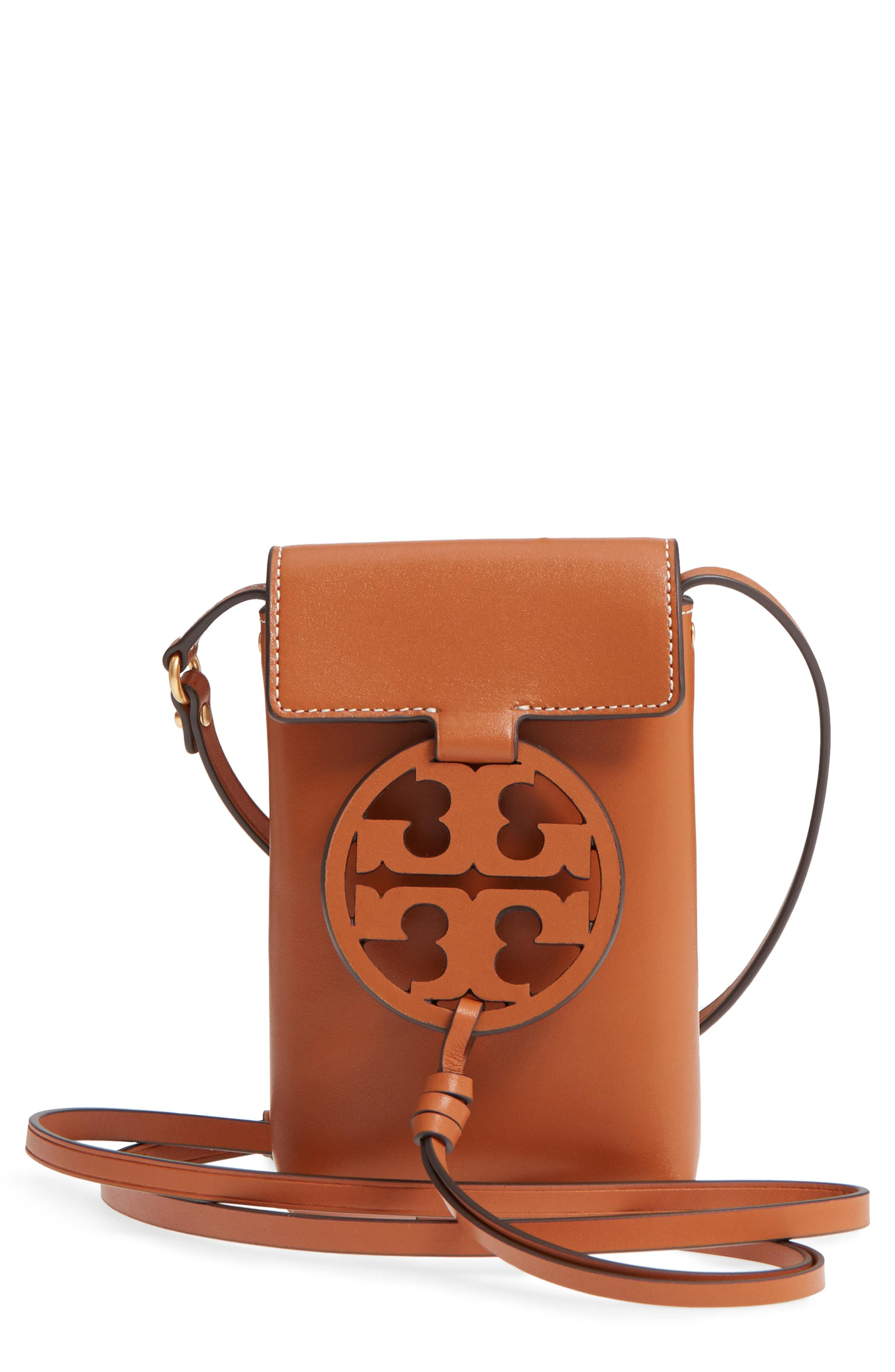 1bcc9e2ad4898c Lyst - Tory Burch Miller Leather Phone Crossbody Bag - in Blue