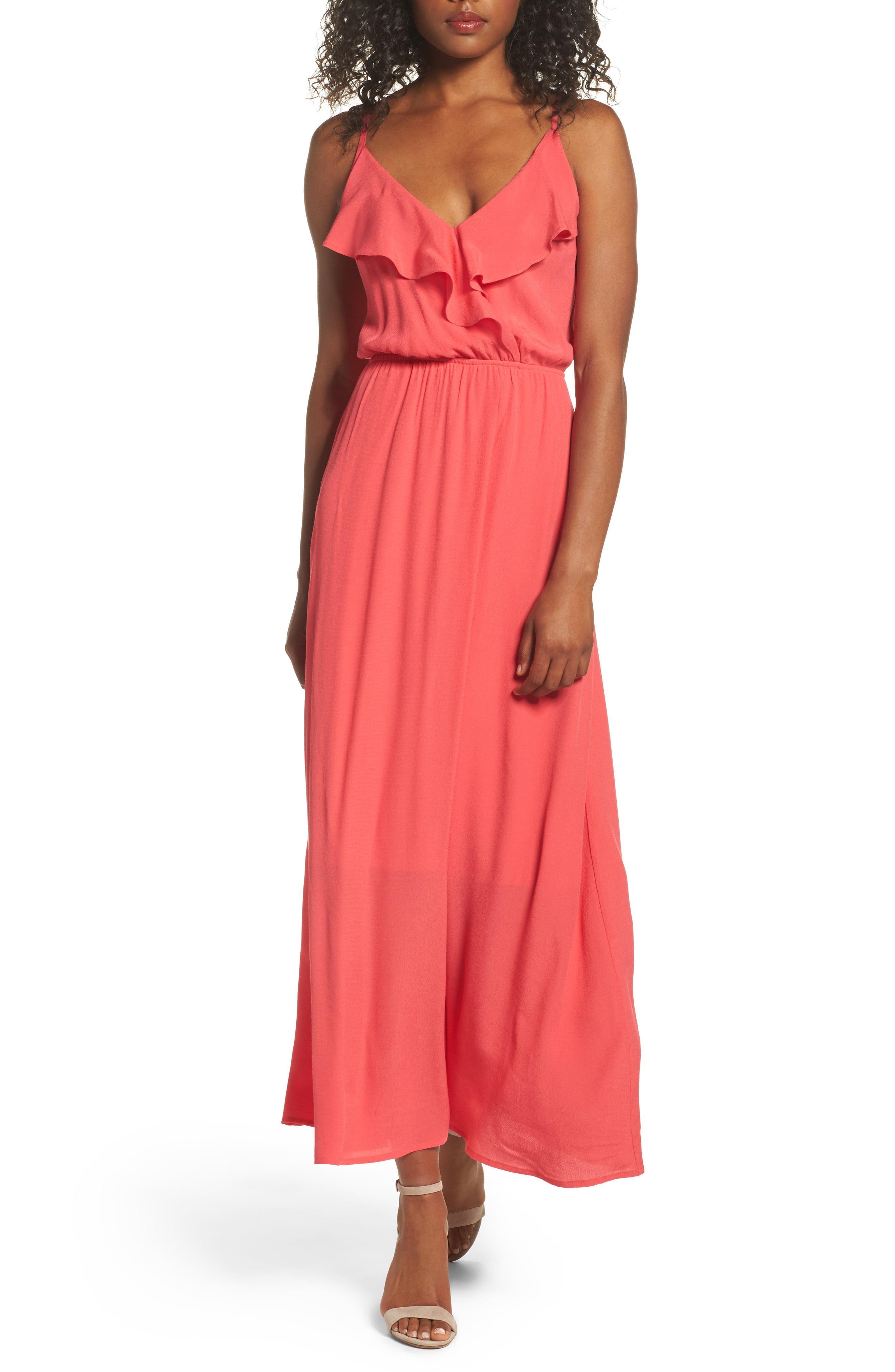 6a84c1e42900 Fraiche By J Blouson Maxi Dress in Pink - Lyst