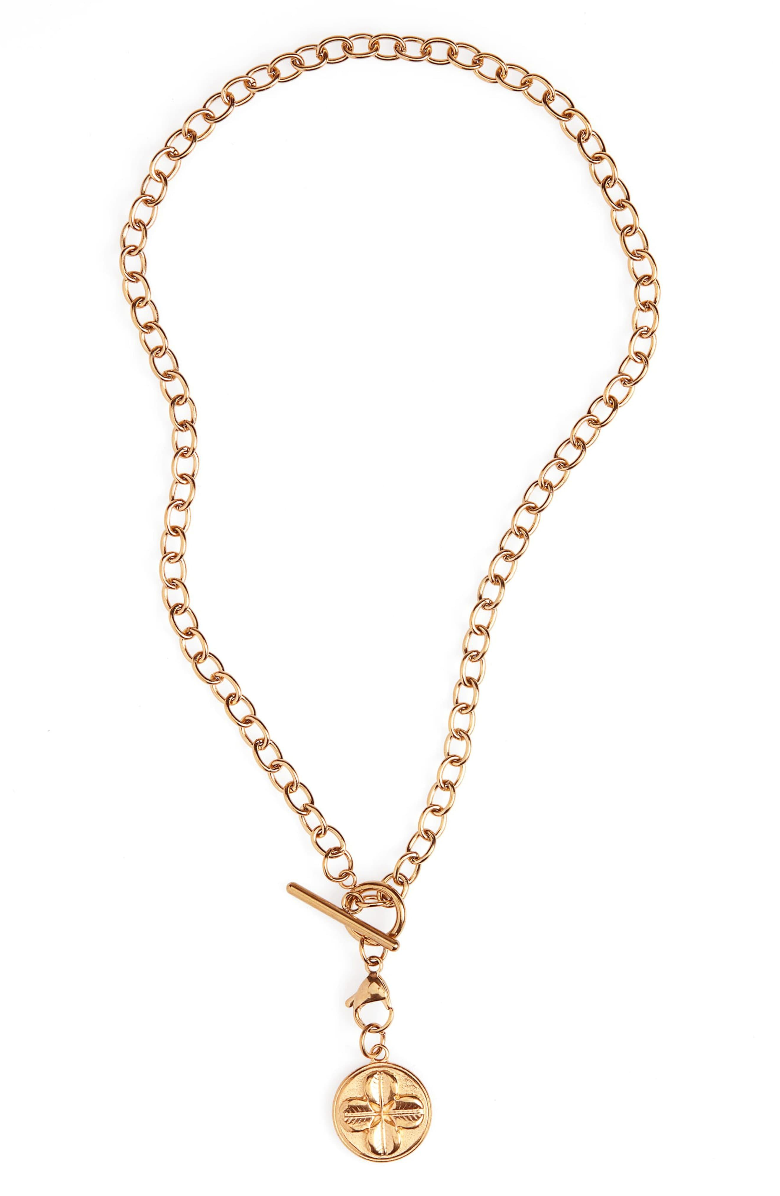257bac6cf Ellie Vail - Metallic Sasha Clover Medallion Necklace - Lyst. View  fullscreen