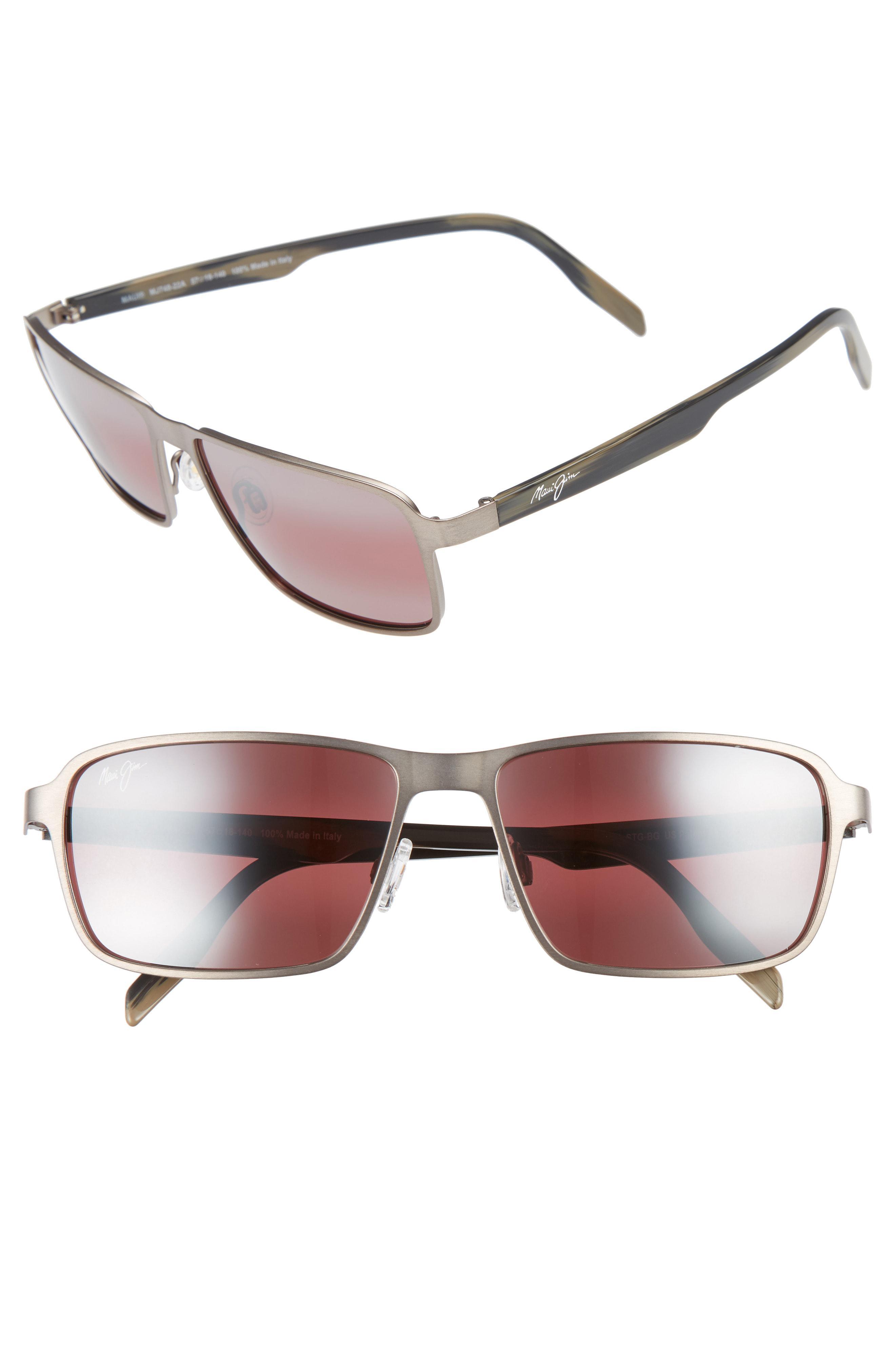 040676cf7bb Lyst - Maui Jim Glass Beach Polarizedplus2 54mm Sunglasses - Brushed ...
