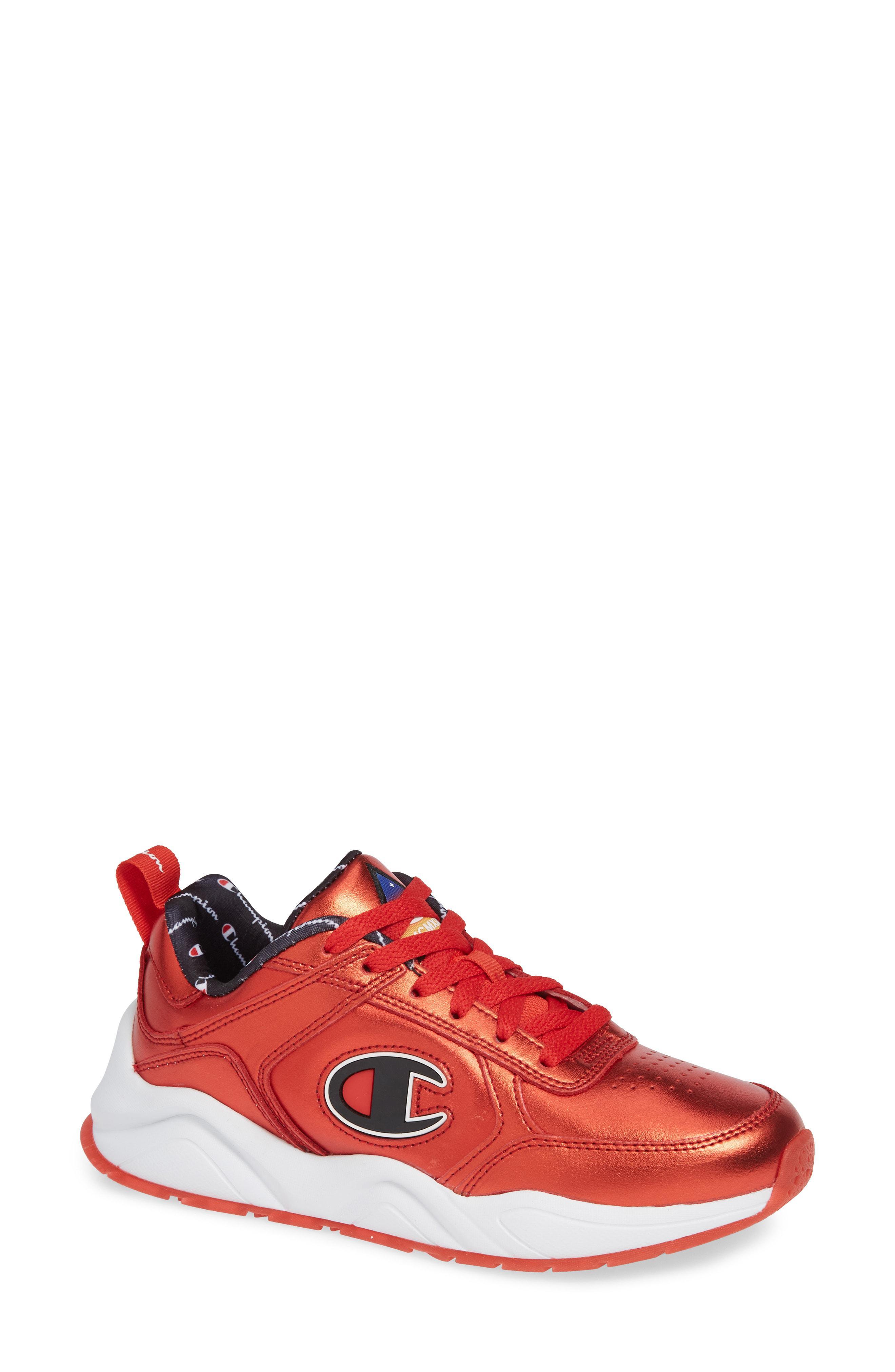3b5ca0d925d Lyst - Champion 93 Eighteen Metallic Sneaker in Red