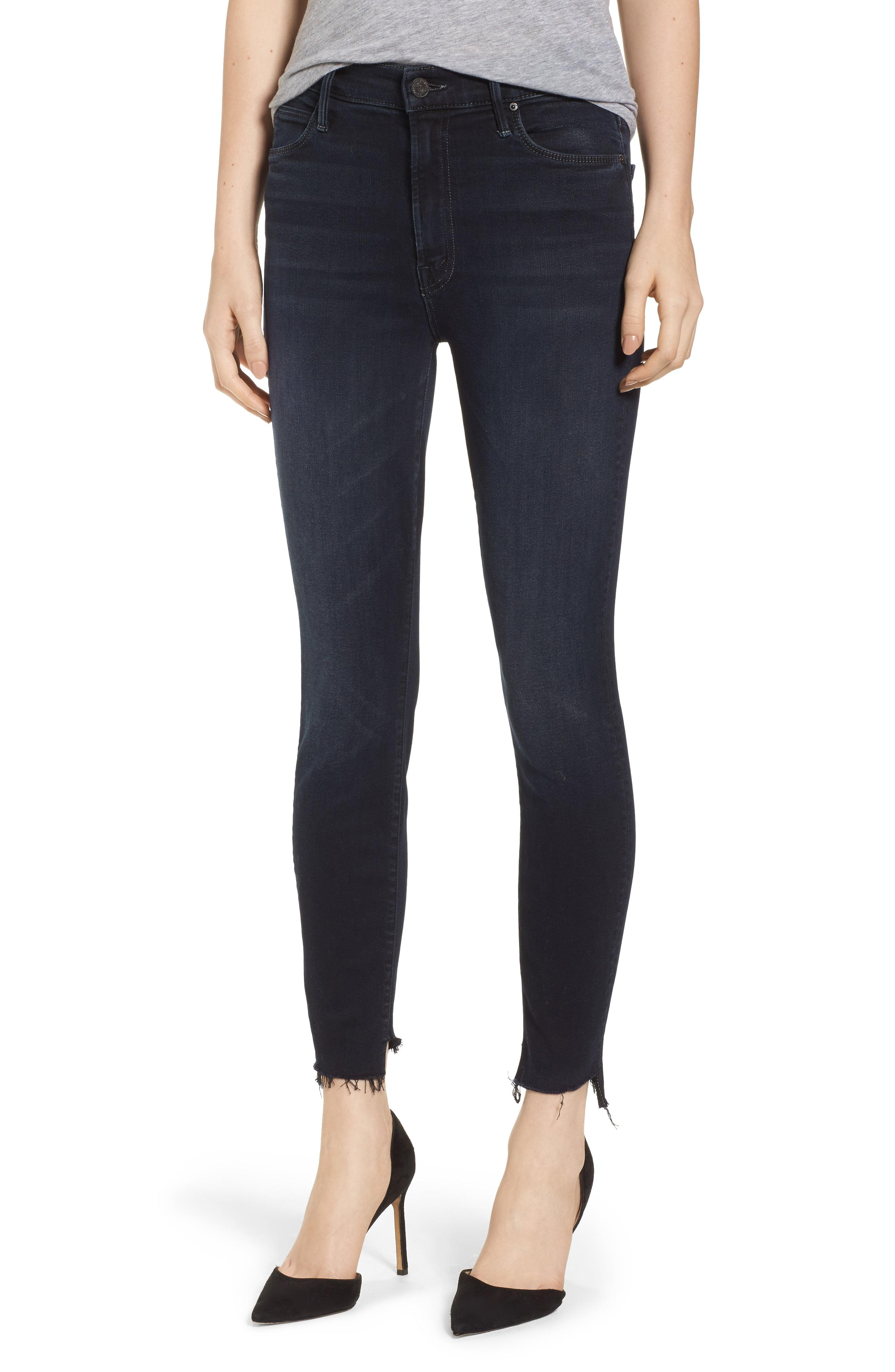 9cf8a13303849 Lyst - Mother The Stunner High Waist Fray Ankle Skinny Jeans in Blue