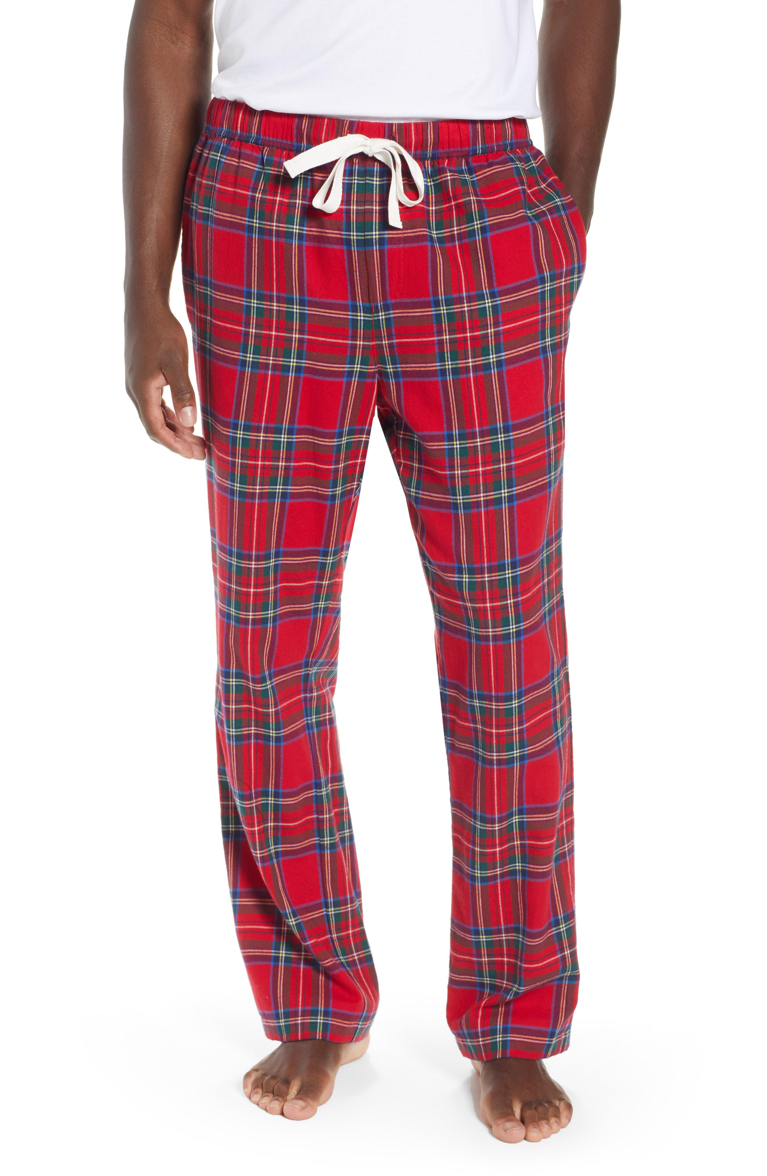 9008ef10b3 Lyst - Vineyard Vines Jolly Plaid Cotton Flannel Lounge Pants in Red ...