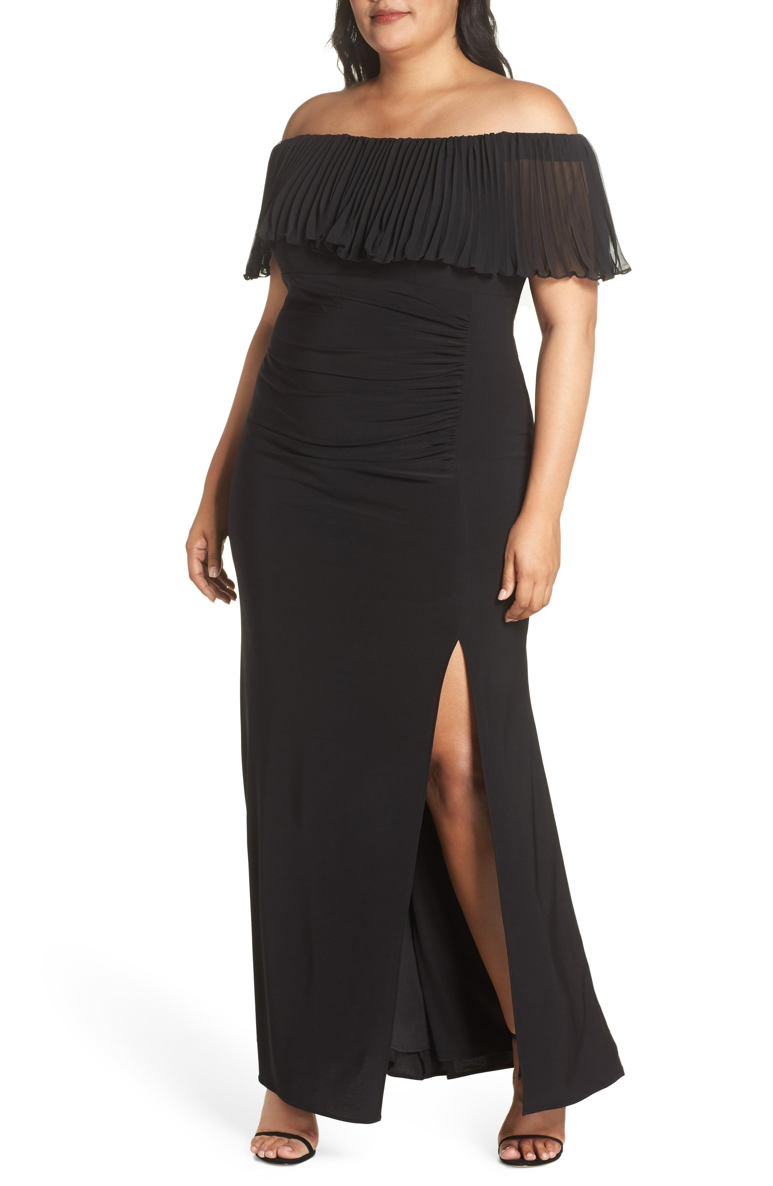 3ebca6858f30 Lyst - Xscape Pleated Chiffon Popover Gown in Black - Save 50%