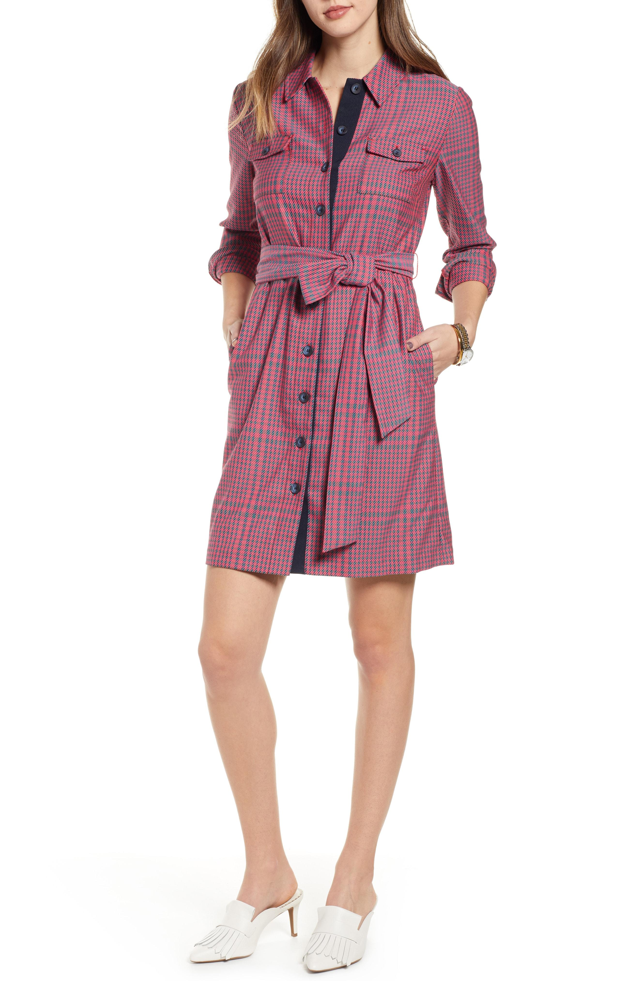 404019e92aed Lyst - Nordstrom 1901 Belted Utility Dress