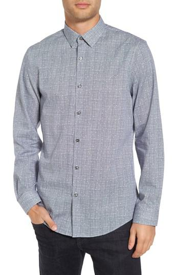 Lyst calibrate slim fit no iron print sport shirt in for No iron slim fit dress shirts