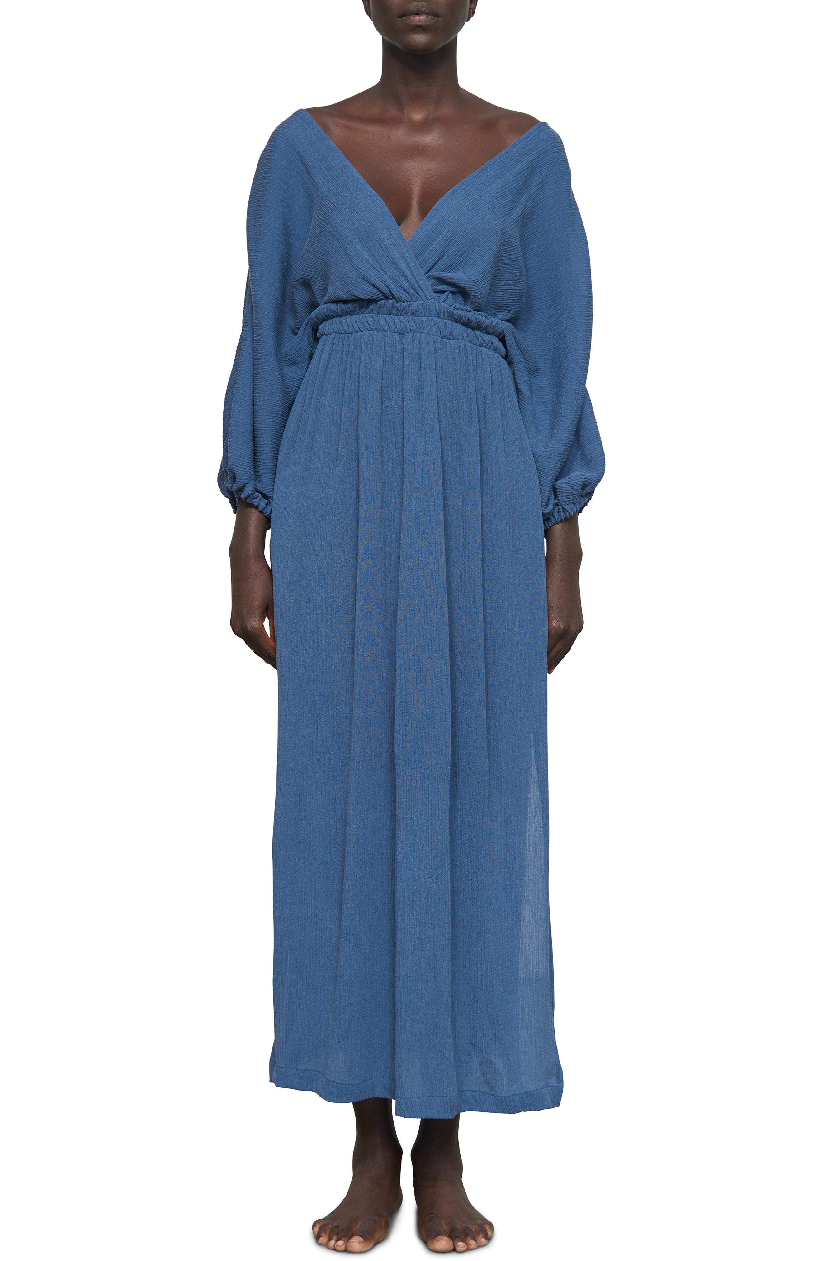 6c1d4084a5f Lyst - Mara Hoffman Nami Cover-up Maxi Dress in Blue
