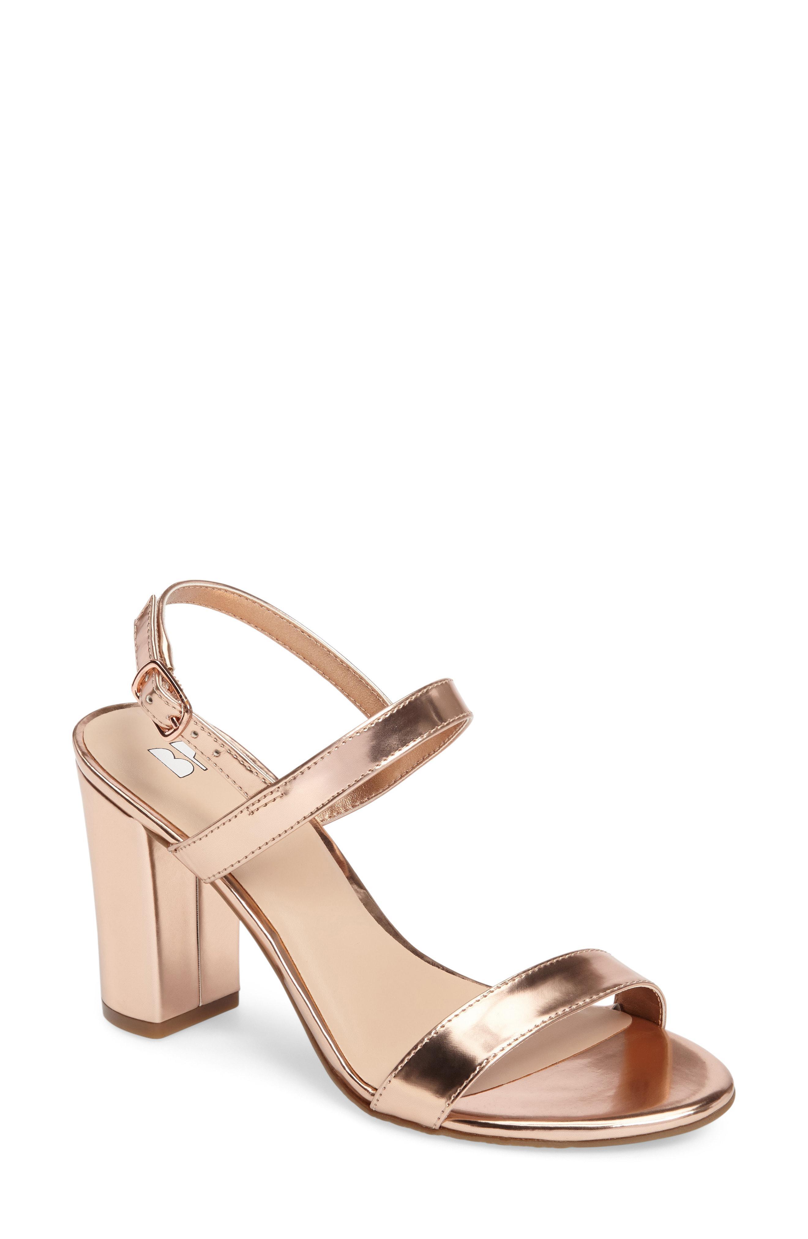 5cd02709dcd4 Lyst - BP. Lula Block Heel Slingback Sandal in Metallic