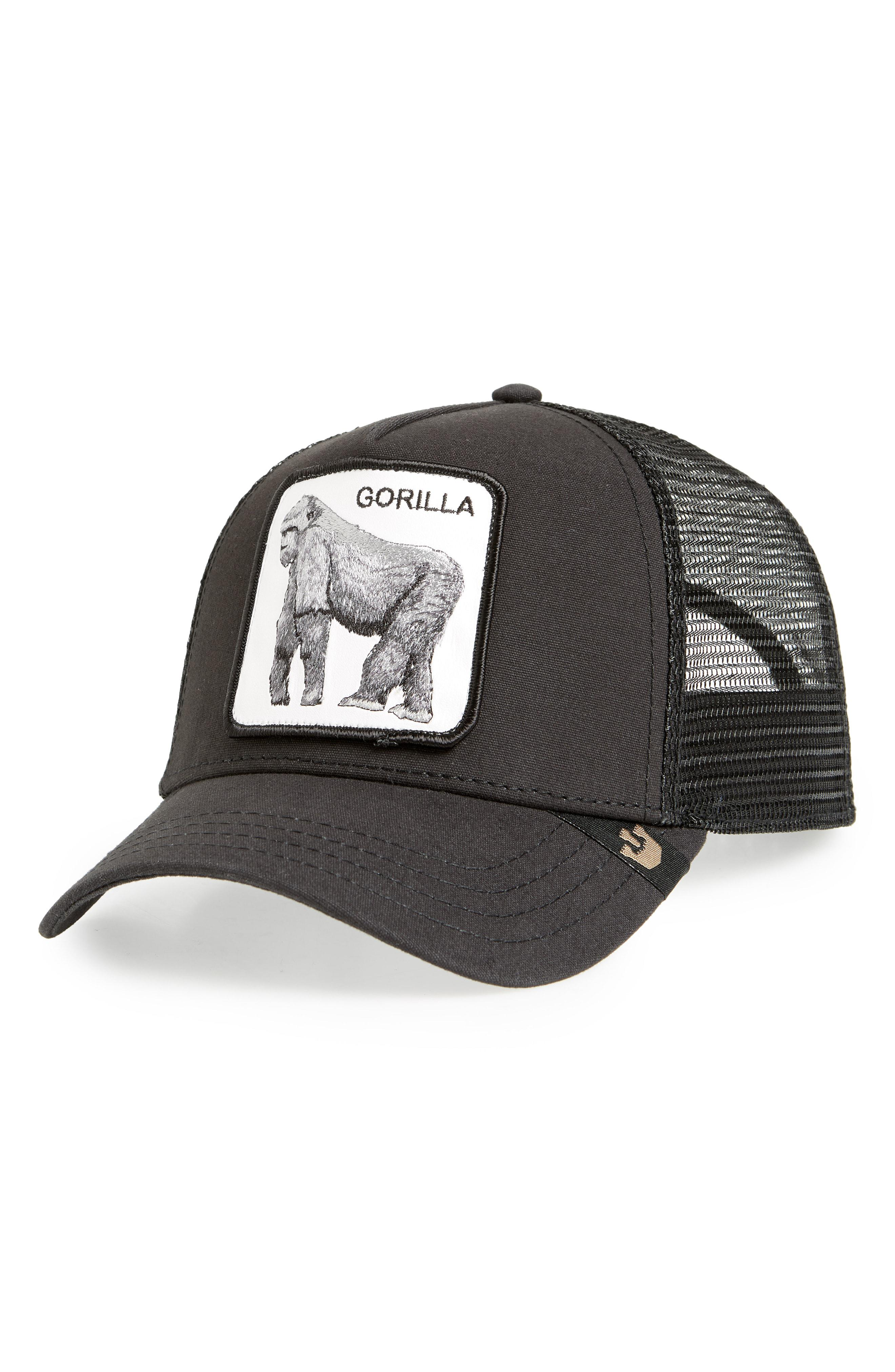 3bcdfb01c11 Lyst - Goorin Bros King Of The Jungle Trucker Hat in Black for Men ...