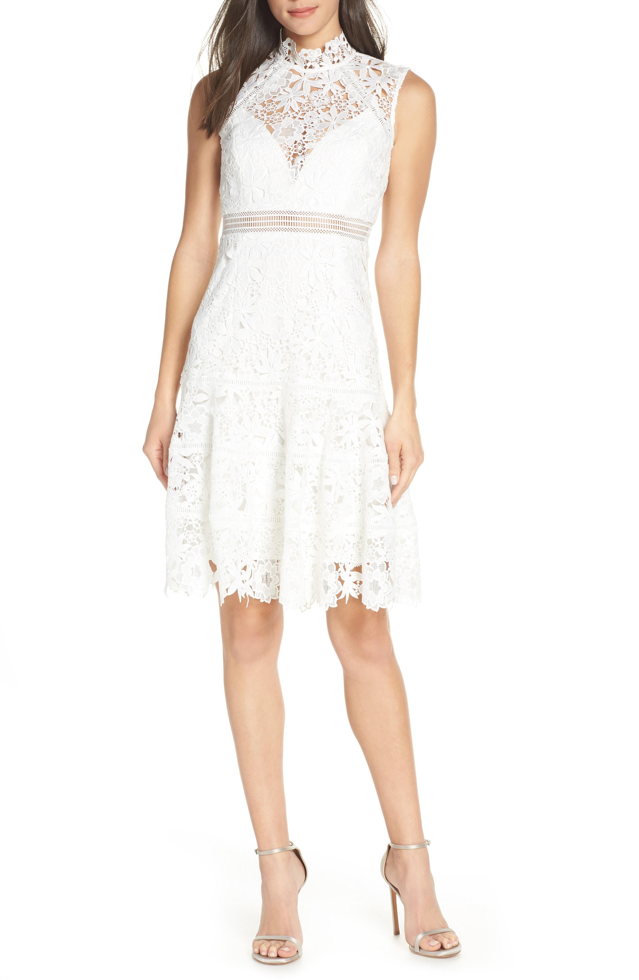 Bardot paris floral lace bodycon cocktail dress