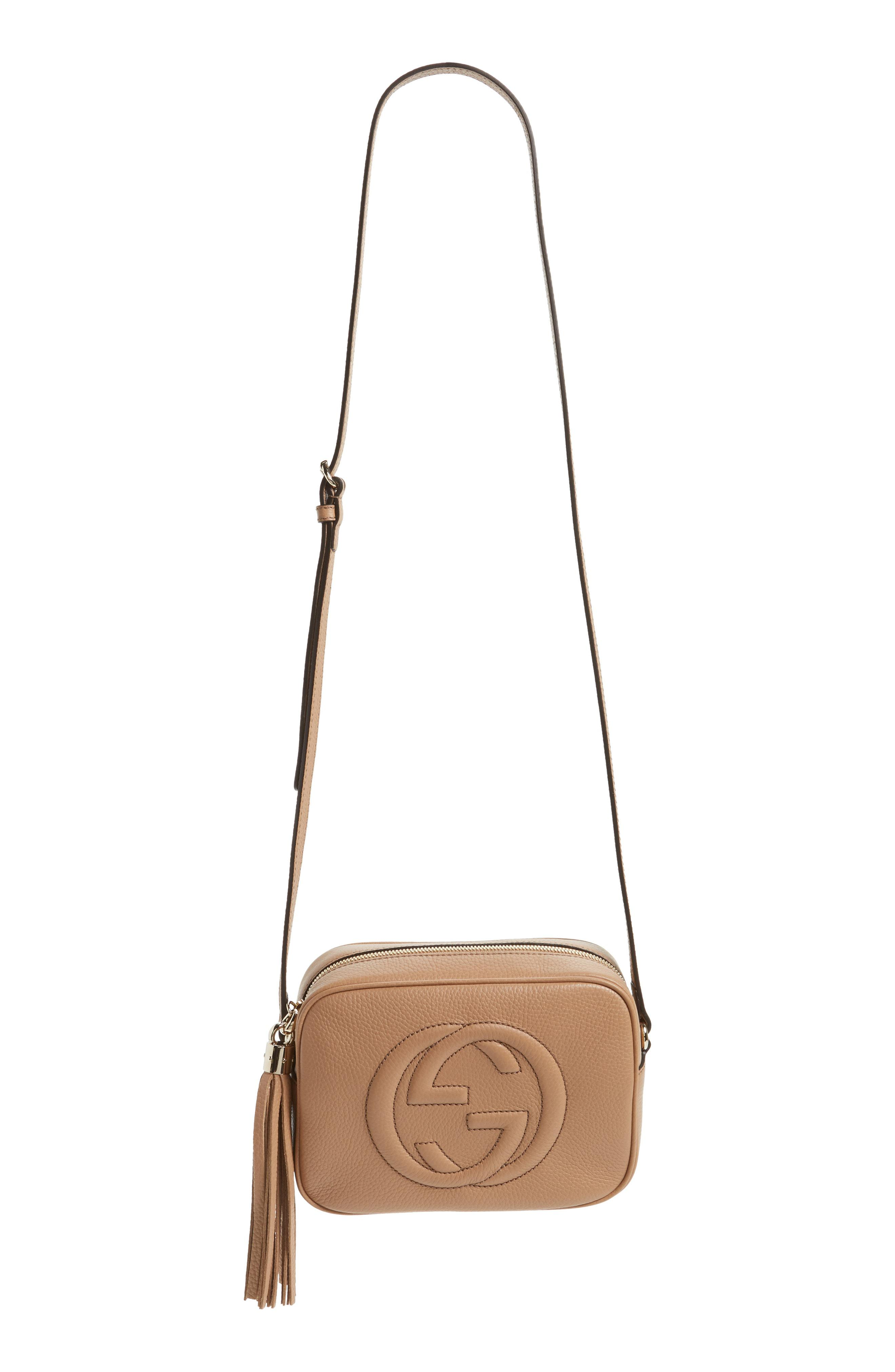 a61cea06abbe Lyst - Gucci Soho Disco Leather Bag in Natural