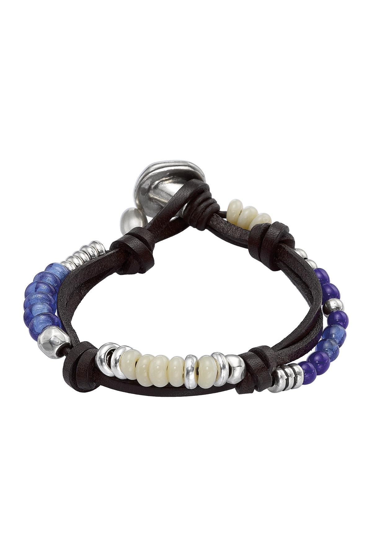 36291078281c81 Uno De 50 Freedom Vibes Crystal Beaded Bracelet in Blue - Lyst