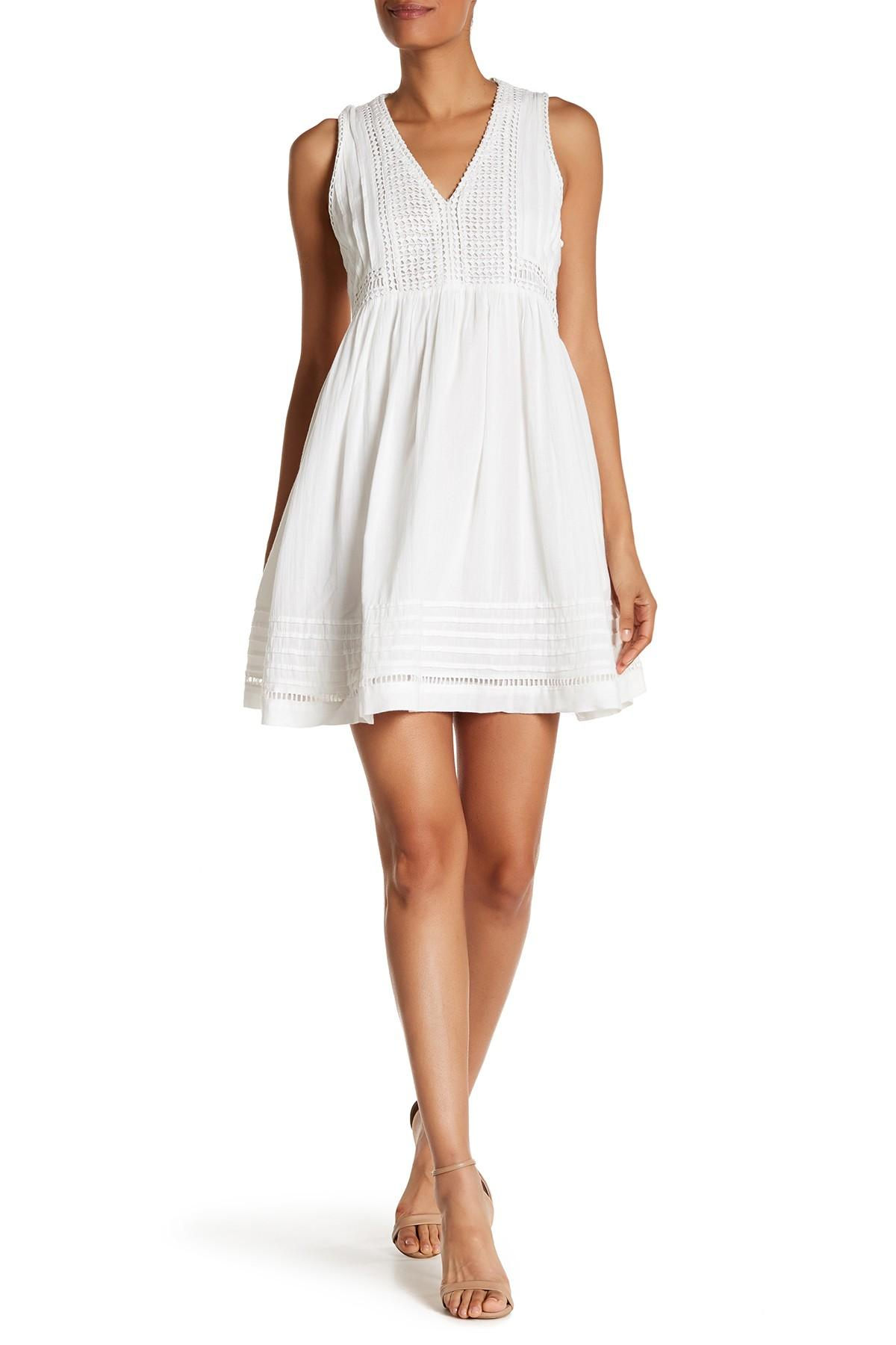 Joie Calero V Neck Summer Dress In White Lyst