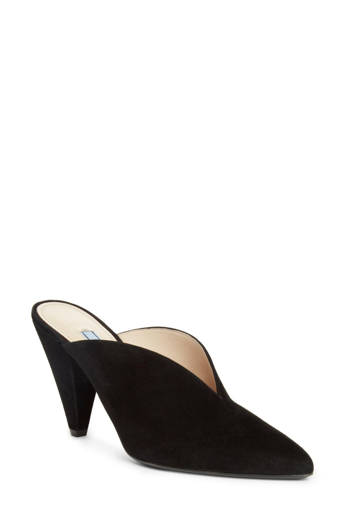 54d99bf37002 Lyst - Prada Pointy Toe Mule (women) (nordstrom Exclusive) in Black
