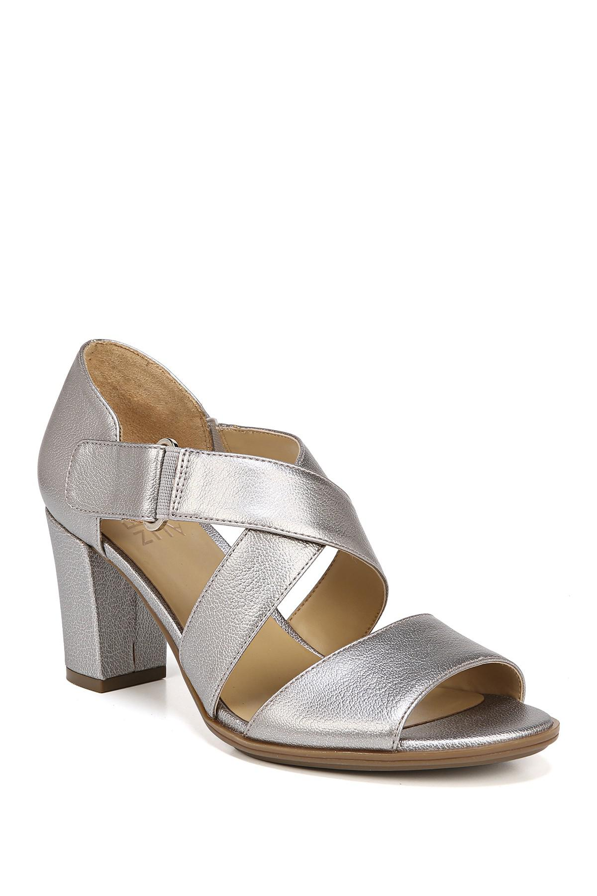 98c3d8735375 Lyst - Naturalizer Lindy Sandal - Wide Width Available in Metallic