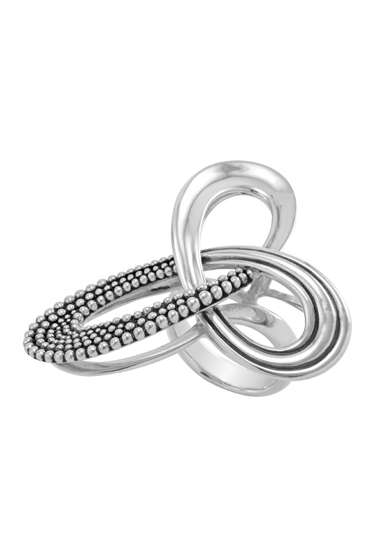 Pirouette Silver Ring