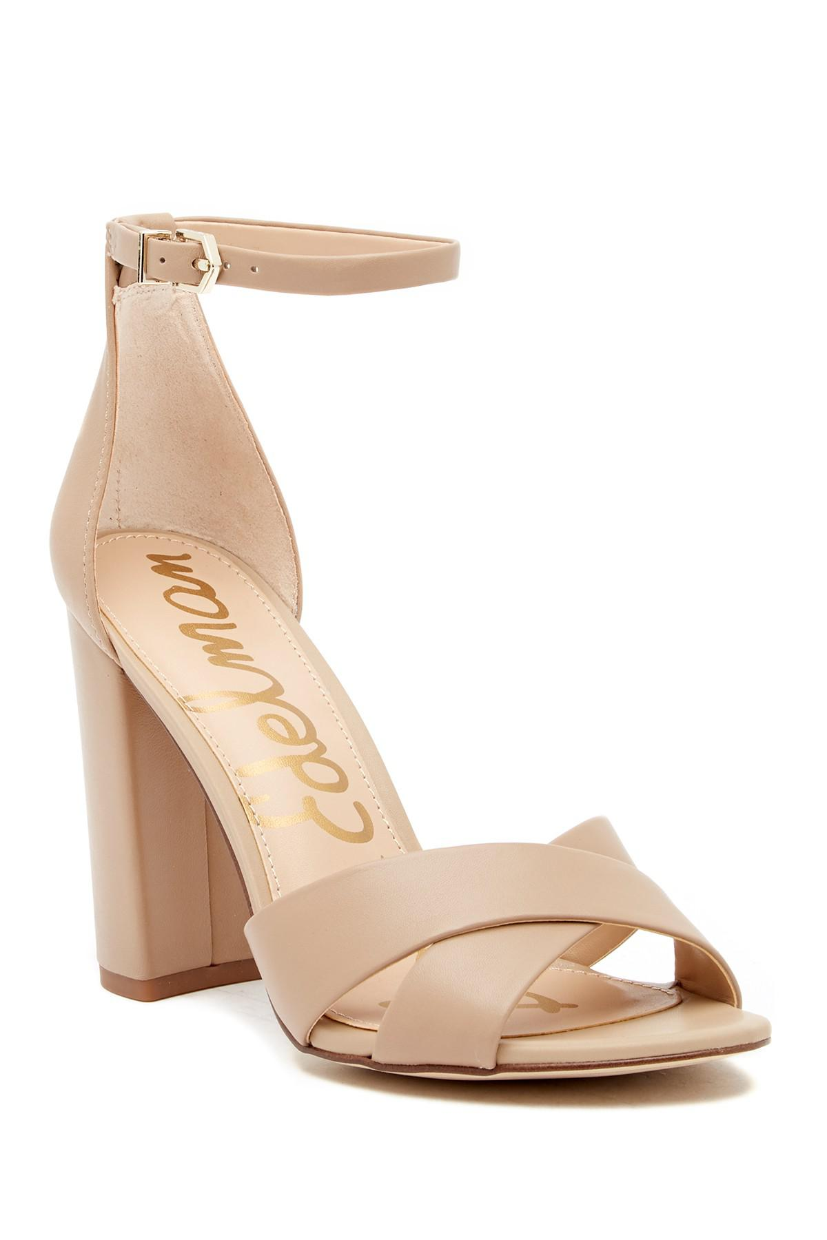 71dfed390e83d Lyst - Sam Edelman Yancy Crossover Strap Suede Sandals in Natural ...