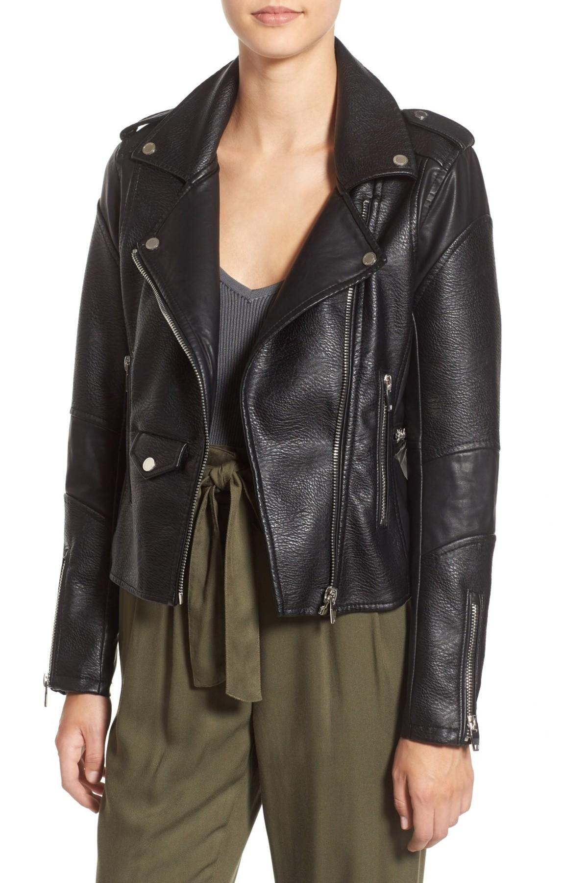 Lyst Blank Nyc Easy Rider Faux Leather Moto Jacket In