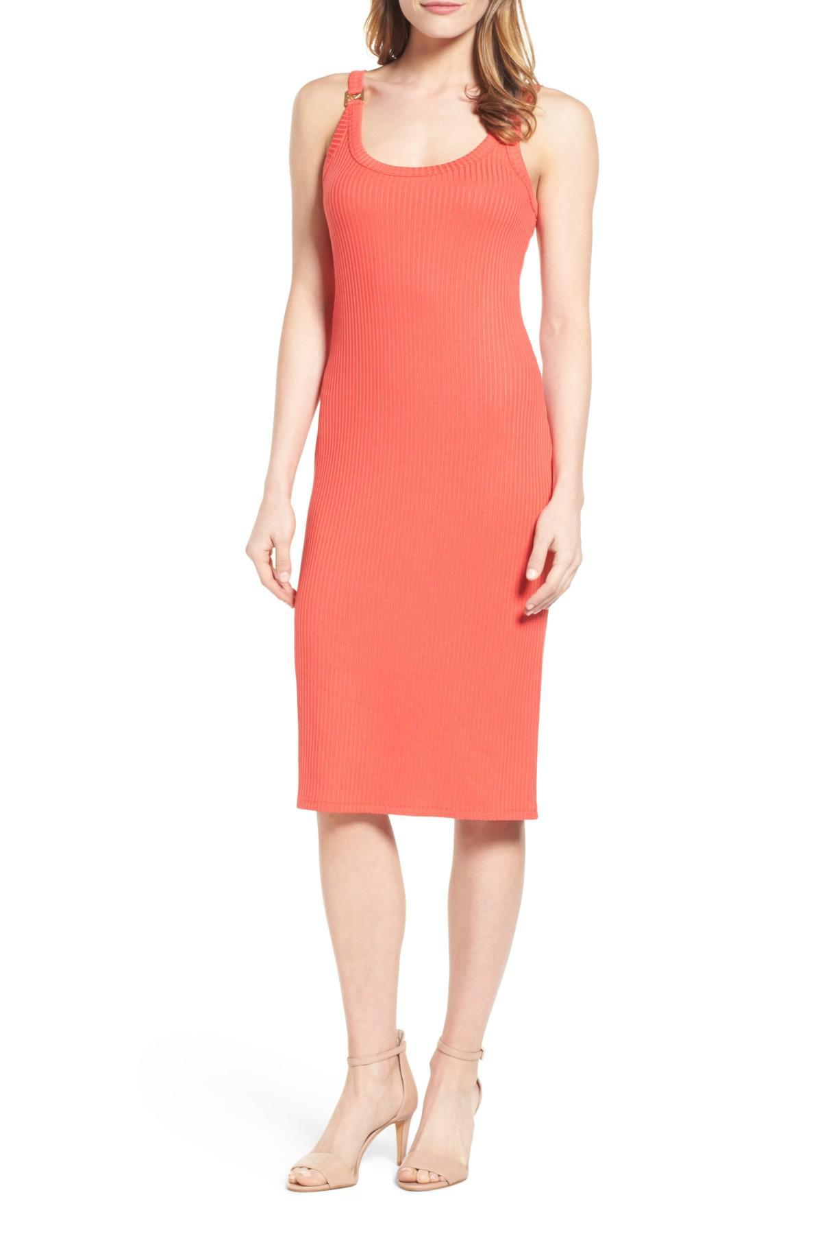 Lyst Michael Michael Kors Hardware Detail Tank Dress In Pink