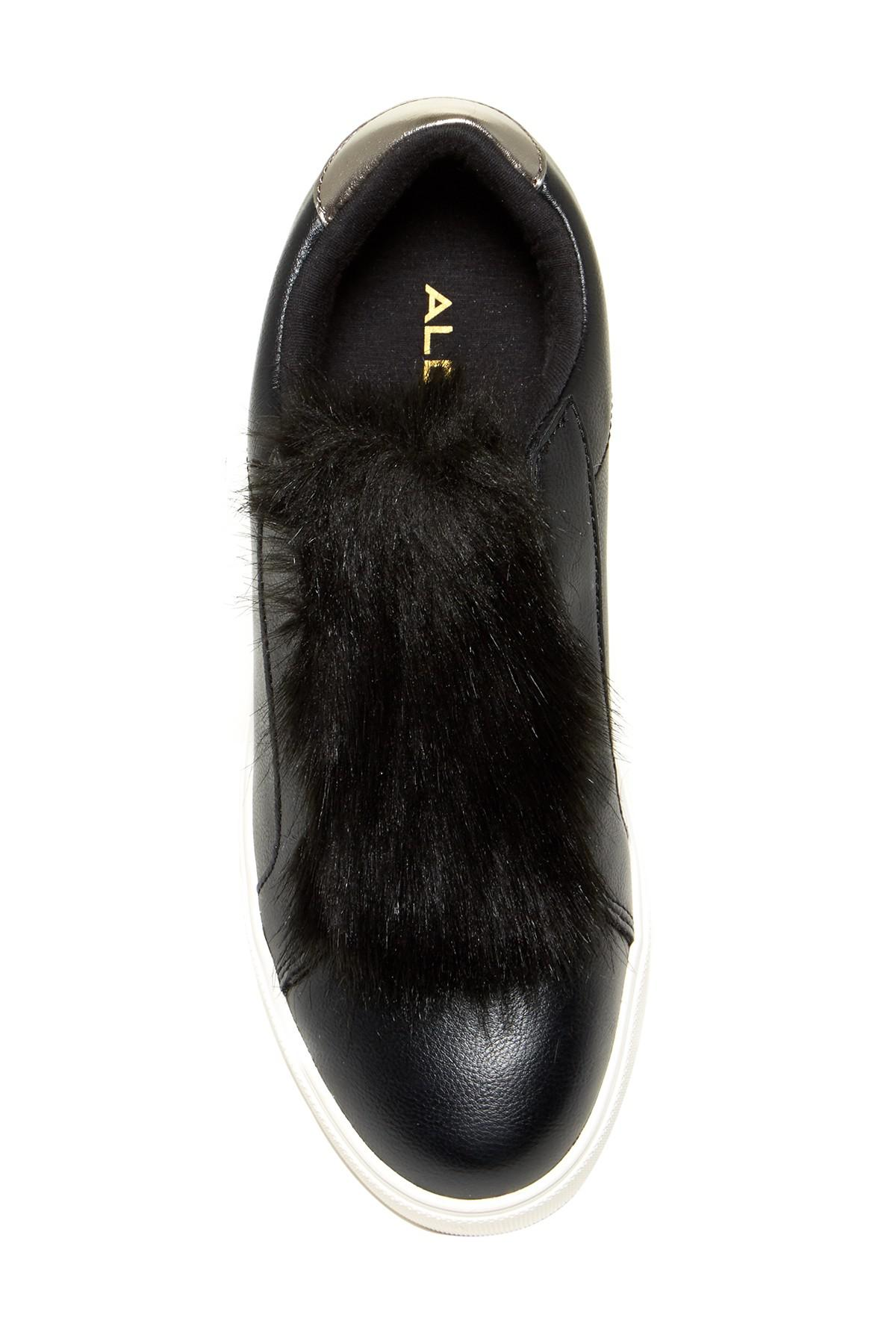Aldo Craerien Faux Fur Trimmed Slip-On Sneaker h5zb3