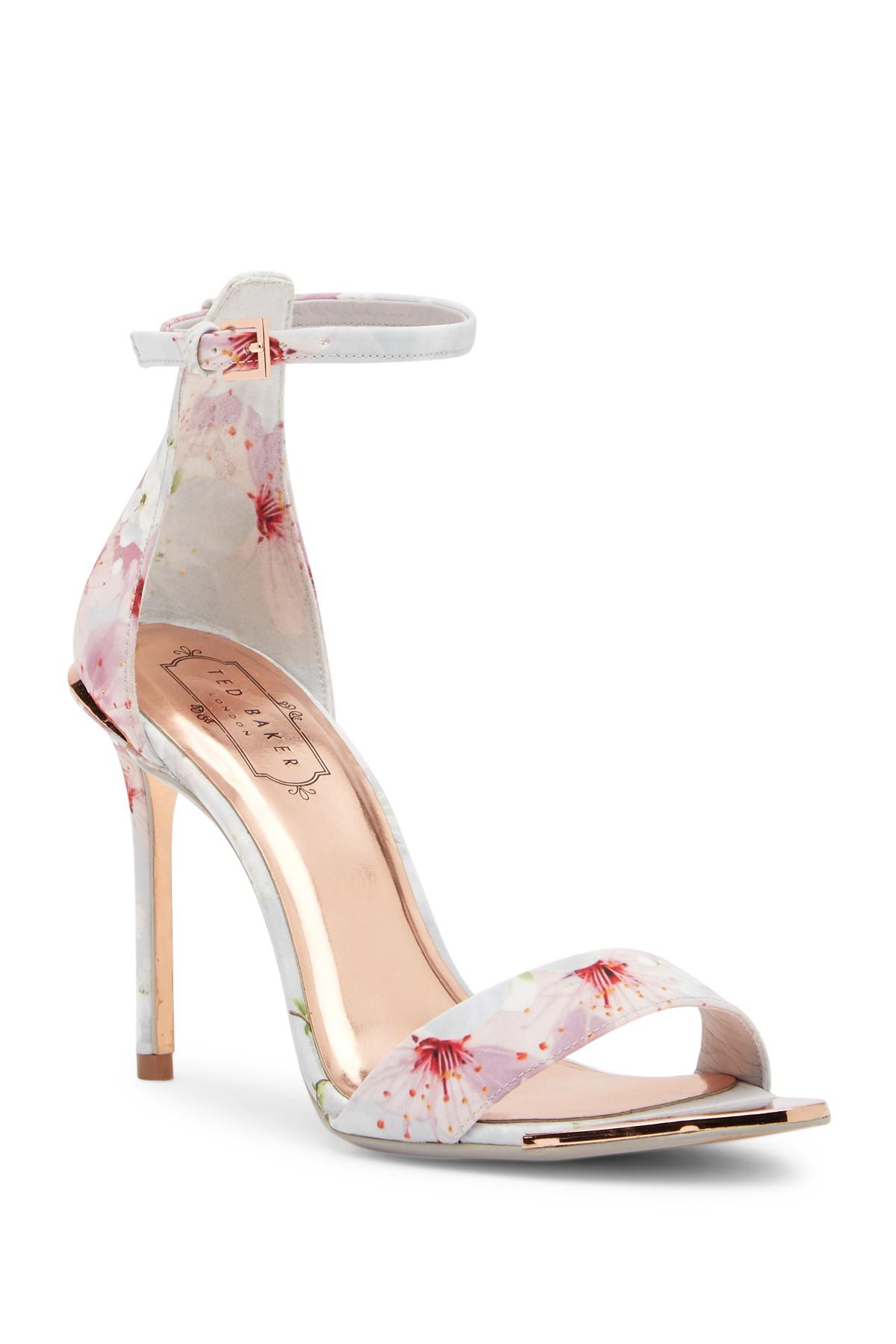 6fc2c6569 Lyst - Ted Baker Charv Floral Heeled Sandal in Pink