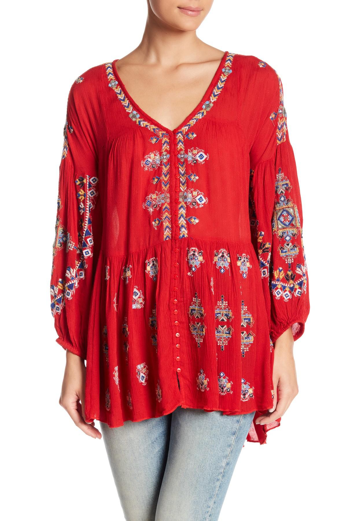 47f2c49e329 Free People Arianna Tunic in Red - Lyst