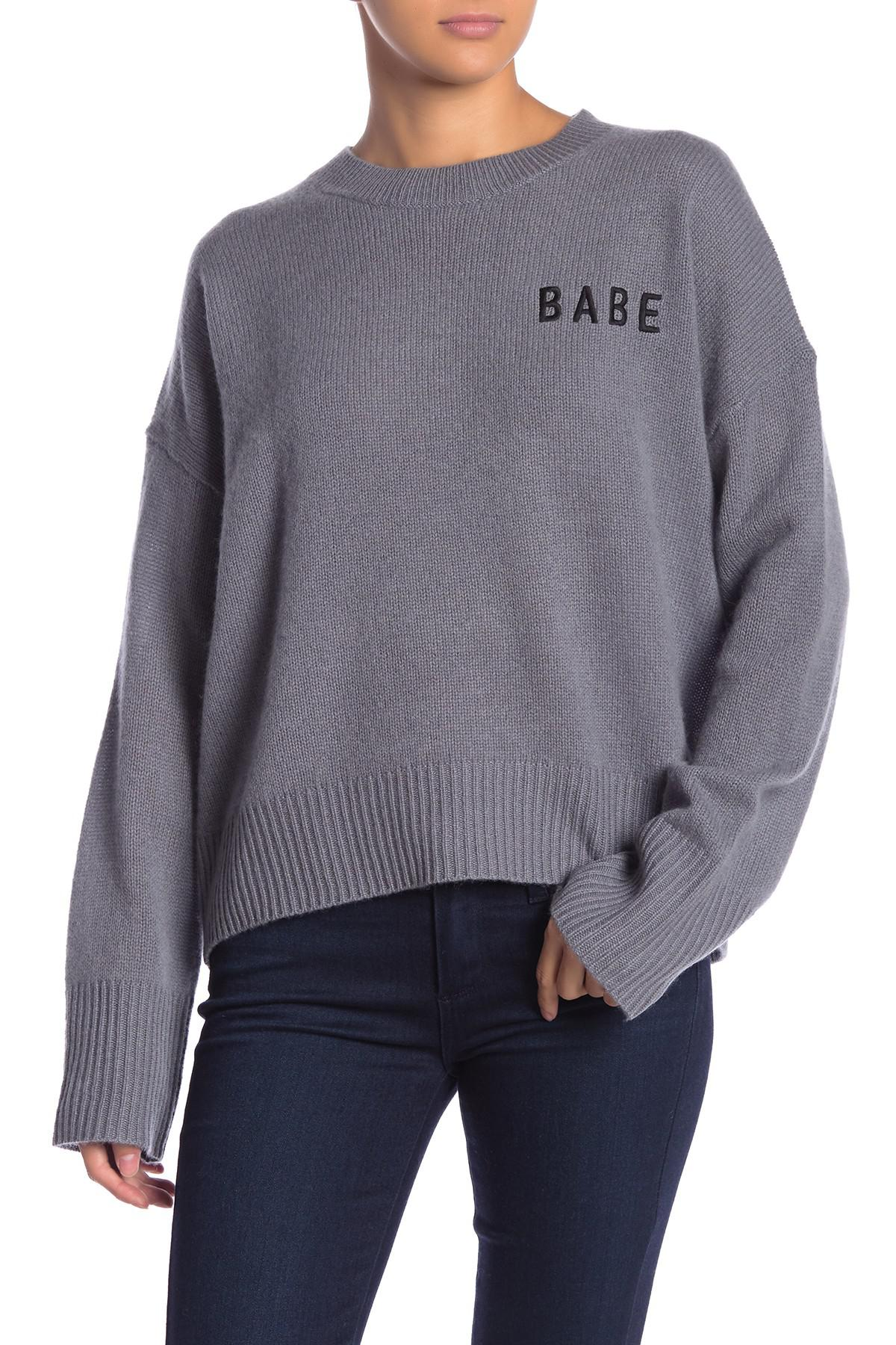 Lyst Skull Cashmere Rhen Cashmere Pullover In Gray