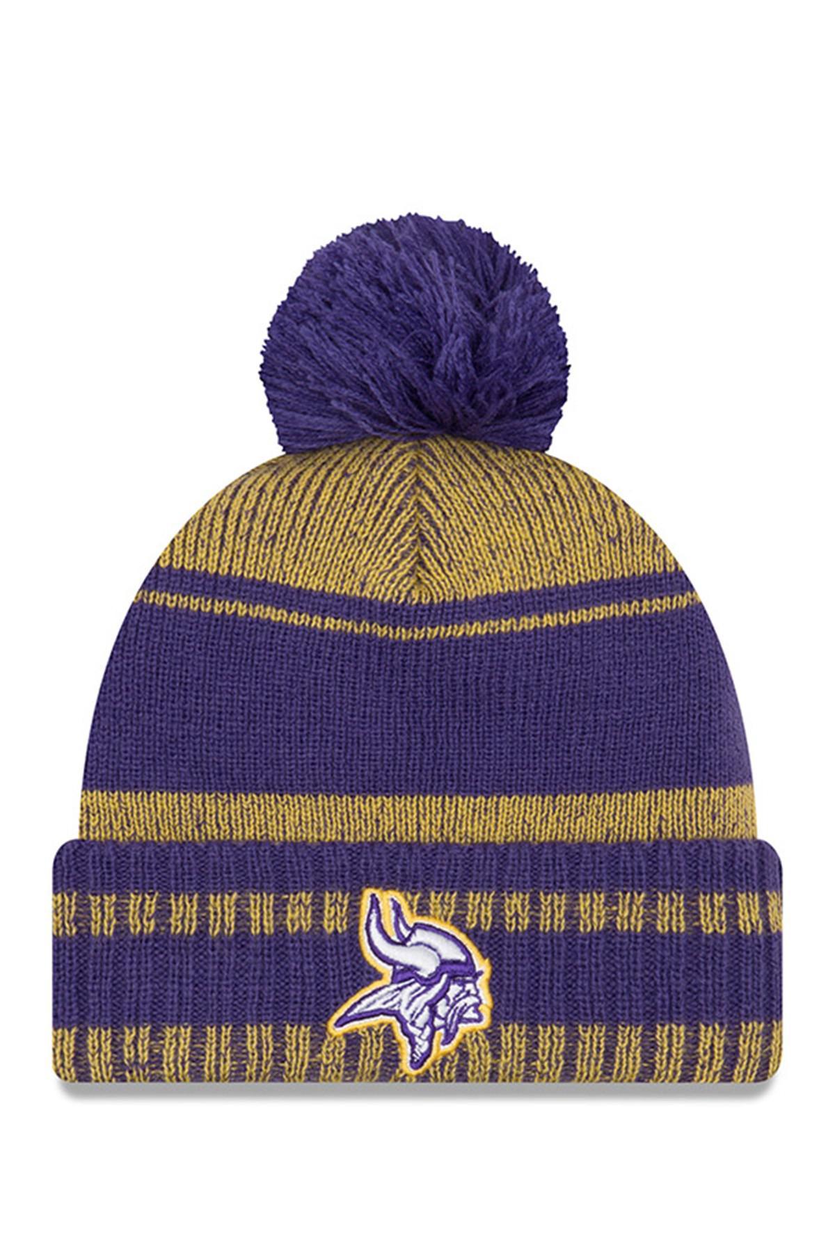 Lyst - KTZ Nfl Minnesota Vikings Glacial Pom Knit Beanie in Purple 415259457