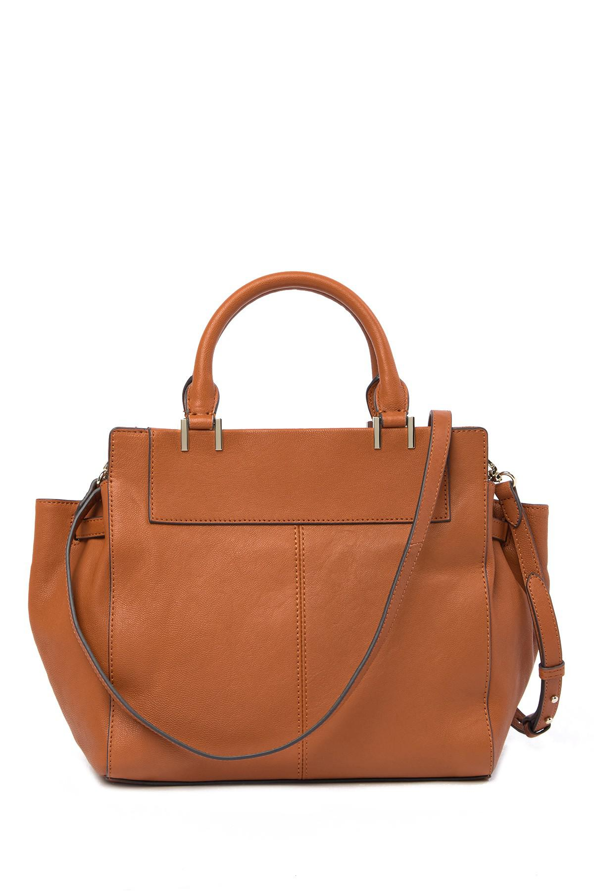 ad2c5a3fde46 Lyst - Vince Camuto Ayla Leather Satchel in Brown