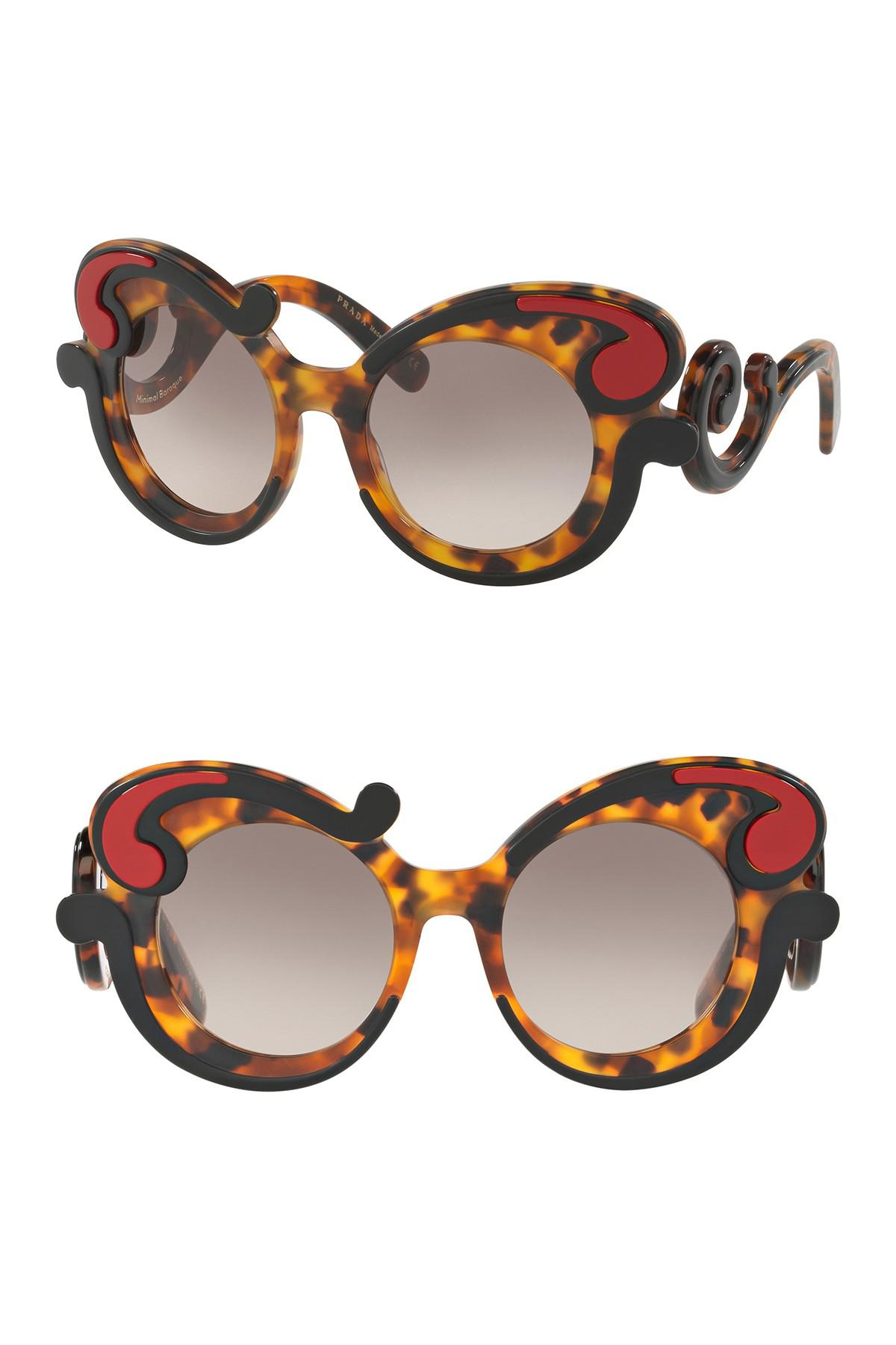 f57f43f9e419c Lyst - Prada Women s Oversized 52mm Sunglasses