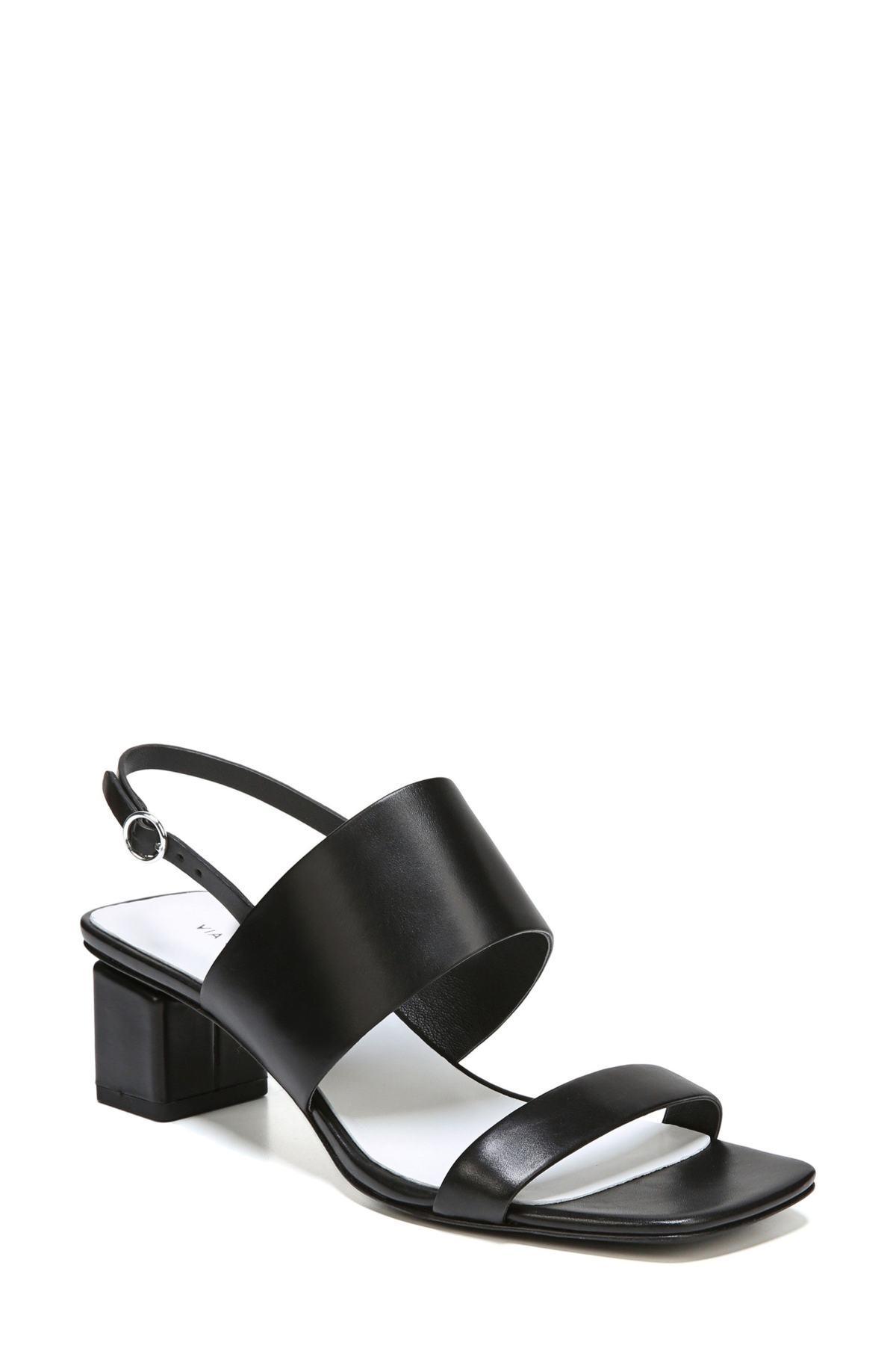 637a0400e30 Lyst - Via Spiga Forte Block Heel Sandal in Black