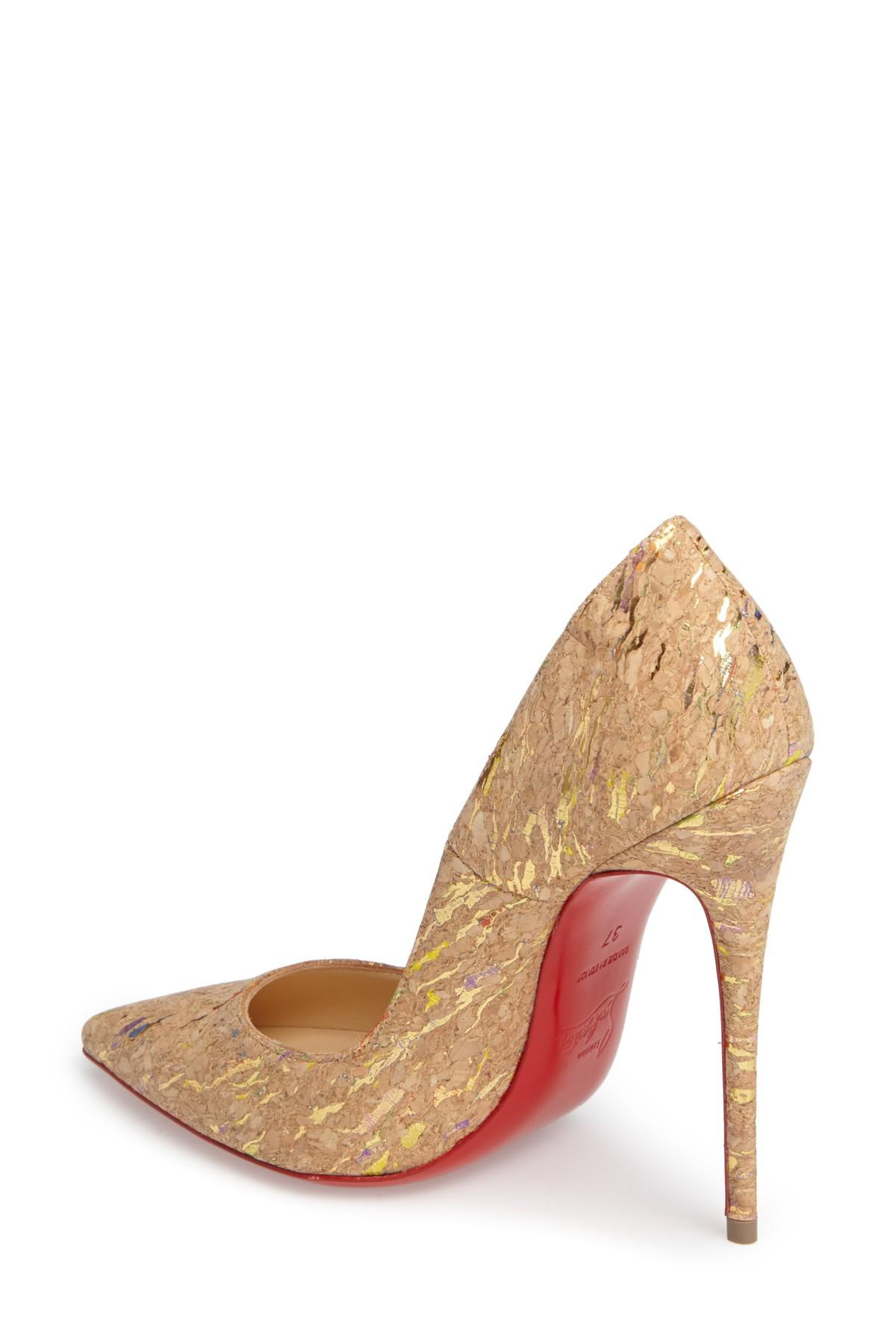 00ac2c05097d Lyst - Christian Louboutin  so Kate  Pointy Toe Pump in Natural