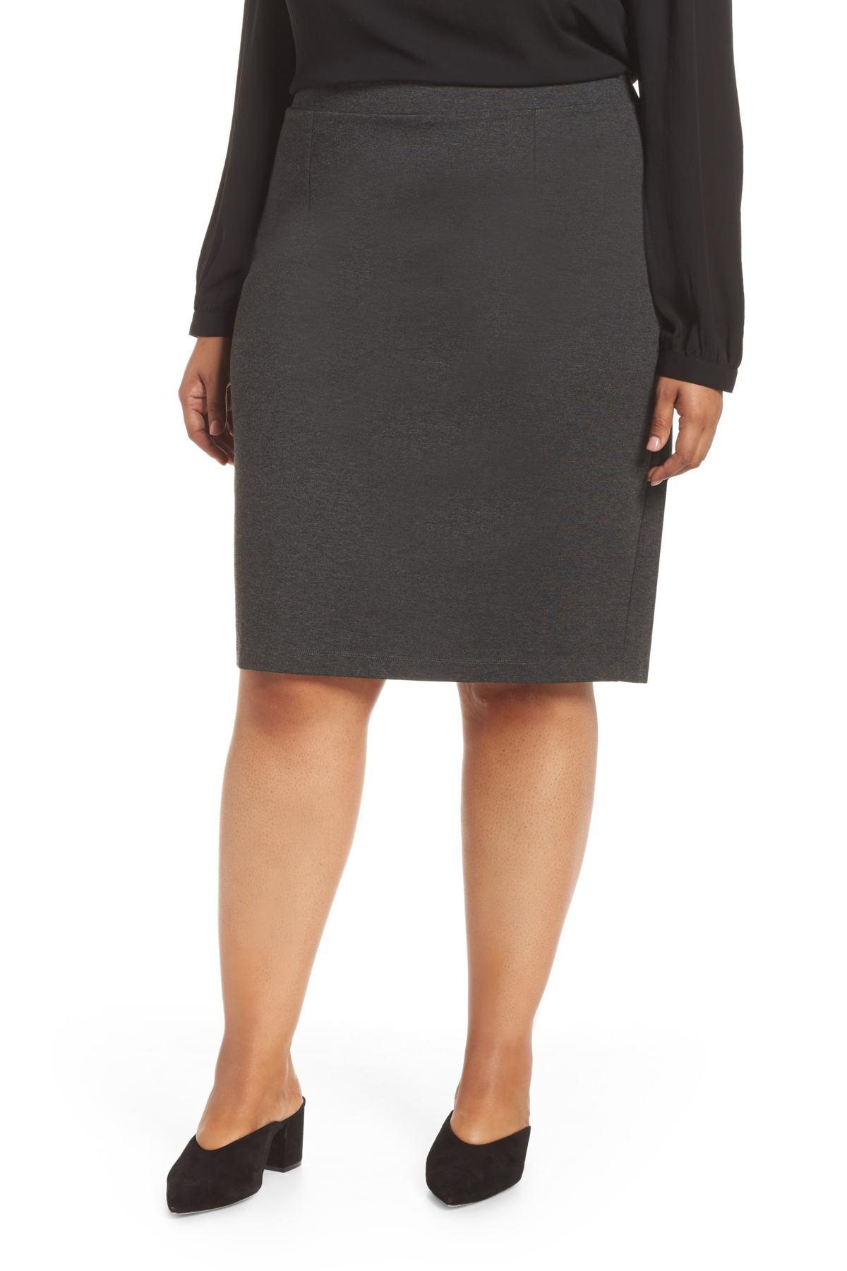 387908af5 Halogen (r) Ponte Pencil Skirt (plus Size) in Gray - Lyst