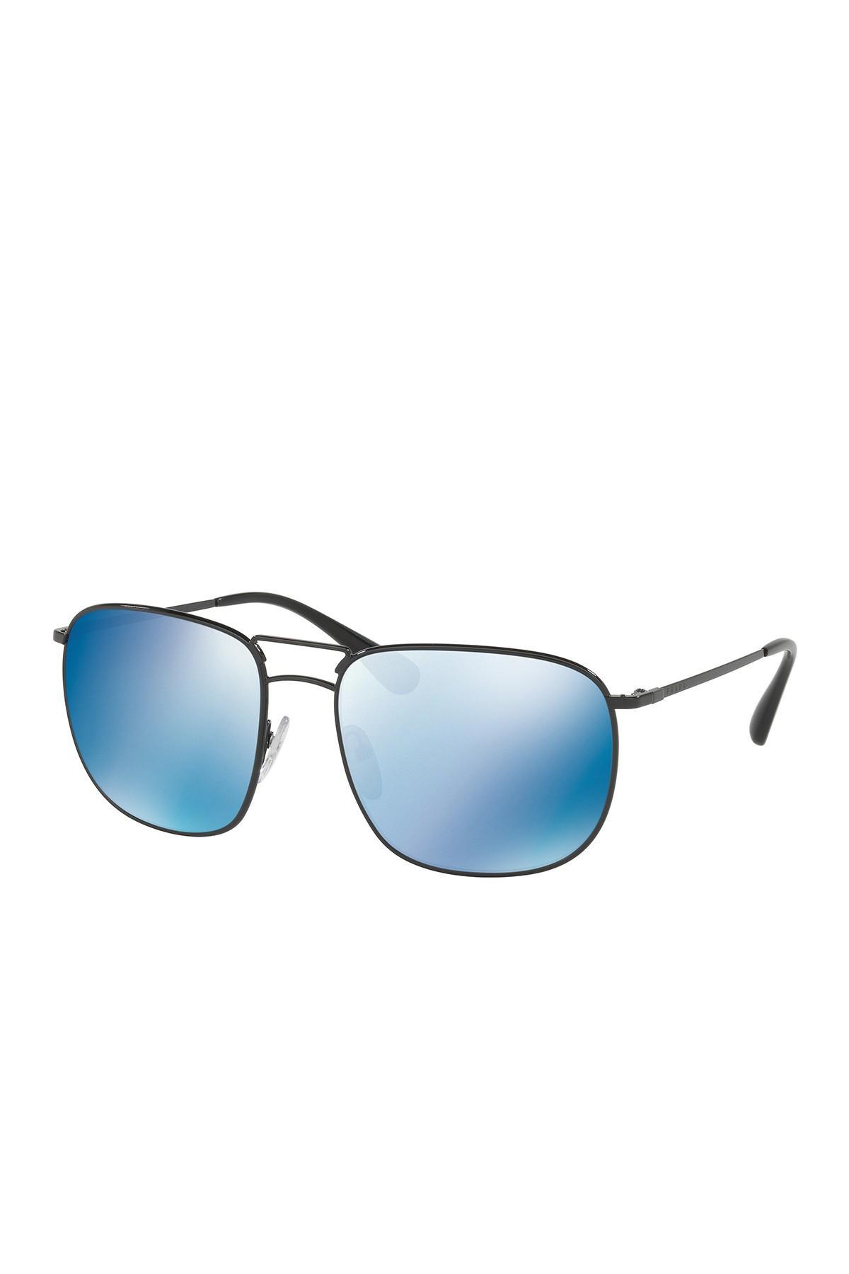 5ea6cbf3336d Prada - Black Pillow Conceptual 60mm Navigator Sunglasses for Men - Lyst.  View fullscreen