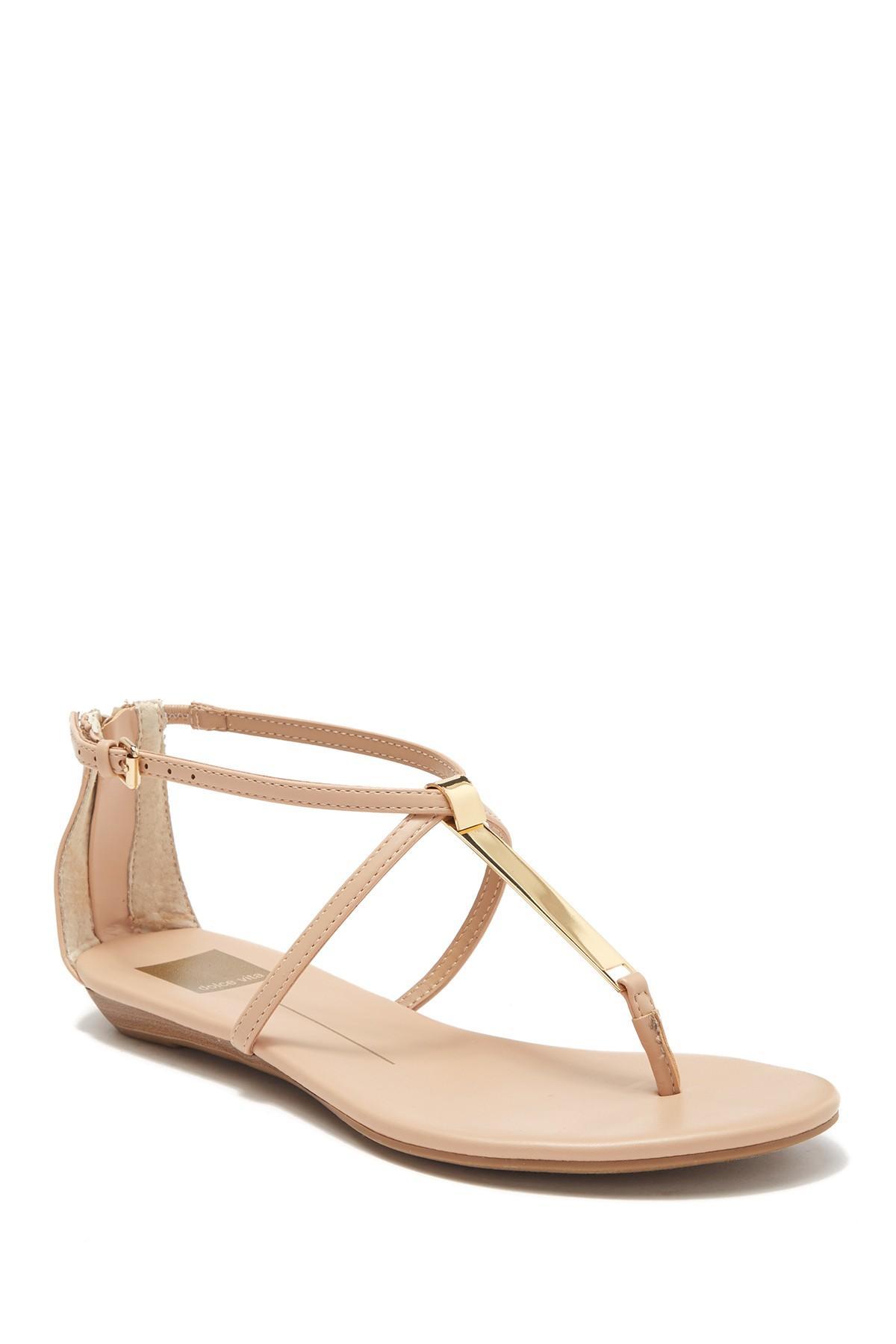Dolce Vita Kylin Slide Sandal in Nude Leather (Natural) - Lyst
