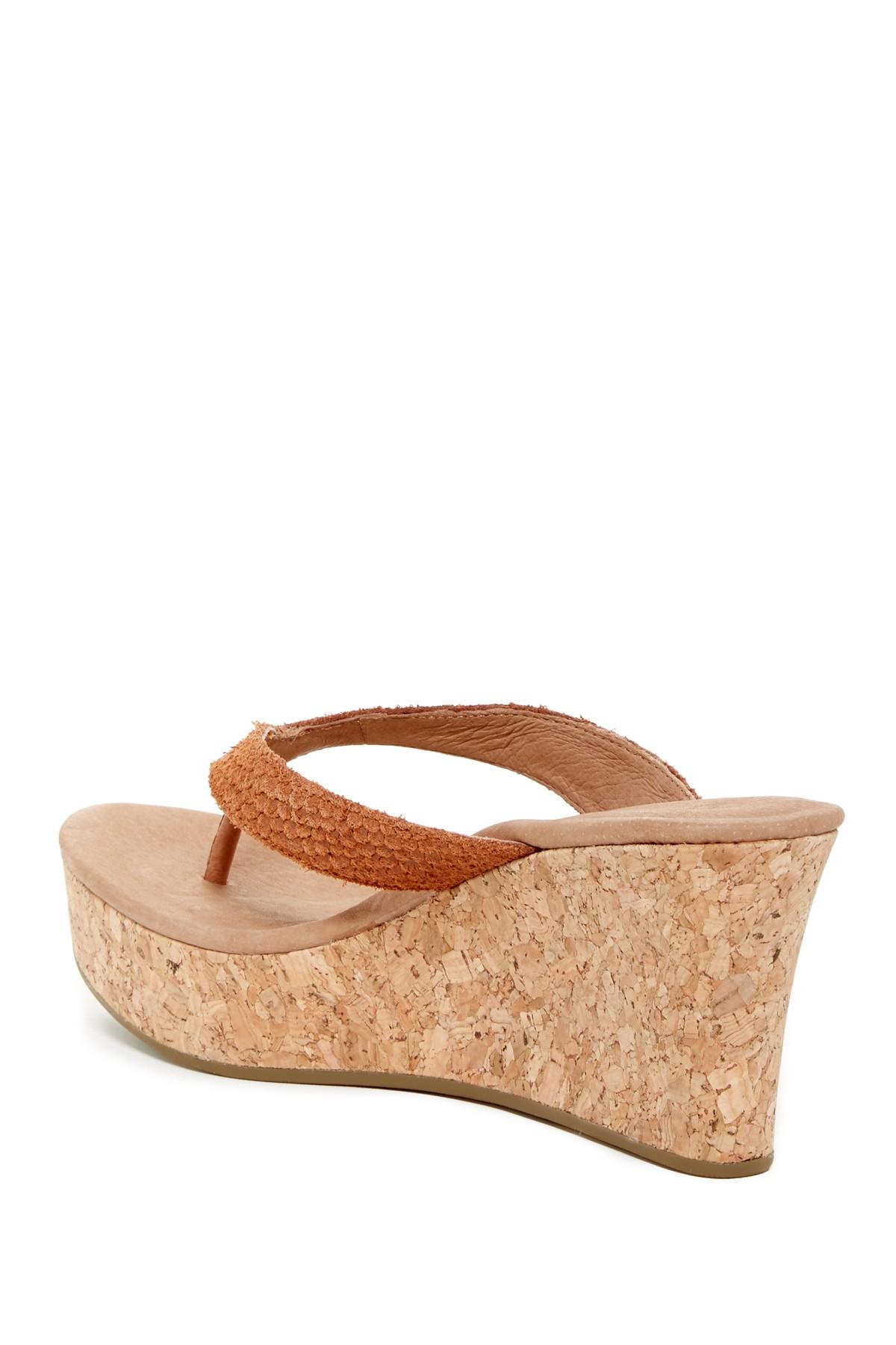 Lyst Ugg Natassia Platform Wedge Sandal In Brown