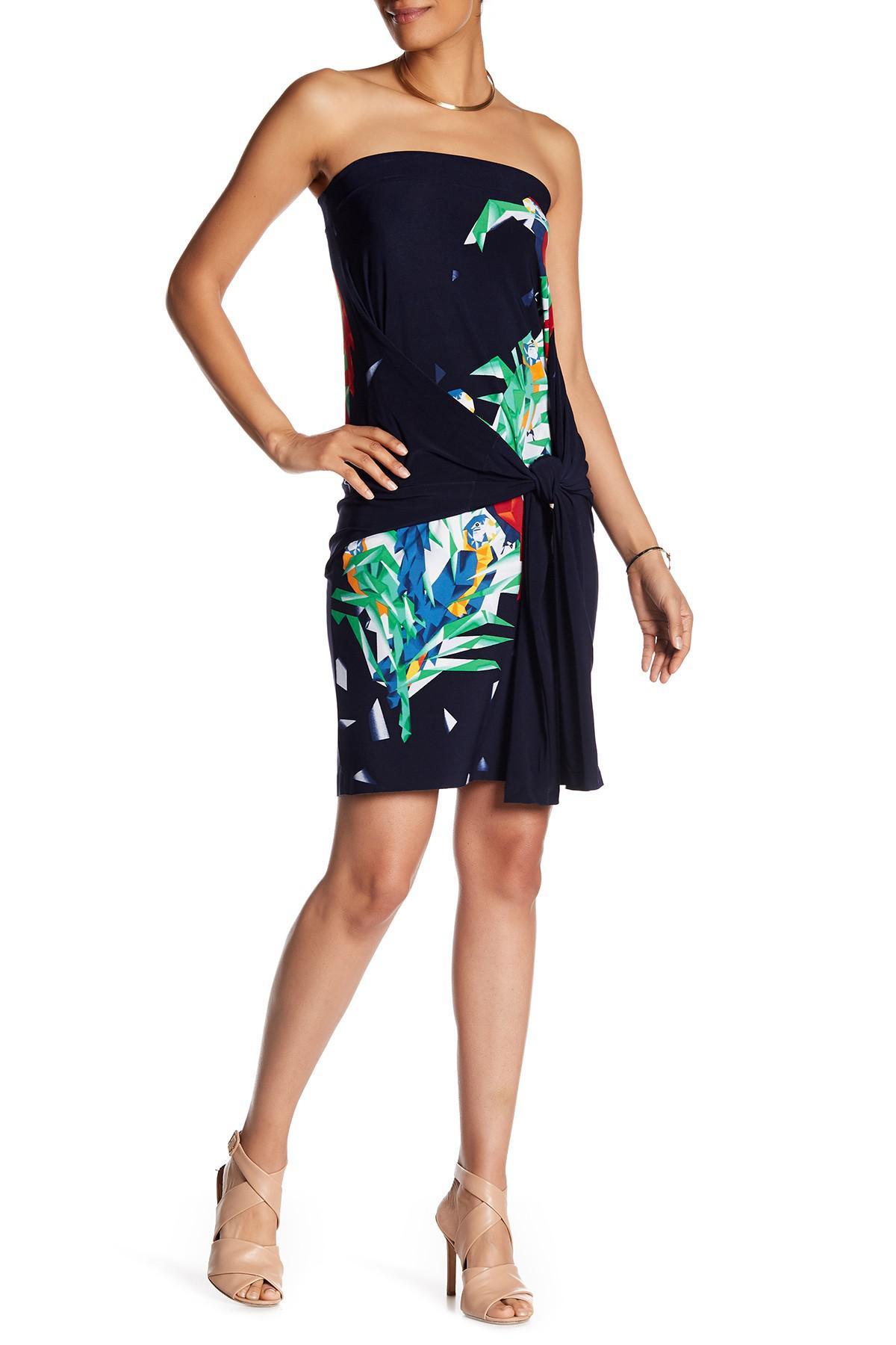 97dd18a9ca4e Lyst - Norma Kamali All In One Convertible Mini Dress