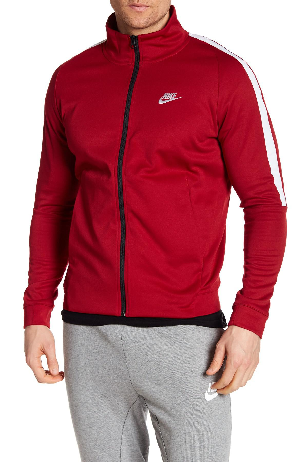 Lyst - Nike Tribute Poly Track Jacket in Red for Men e2b24c28c