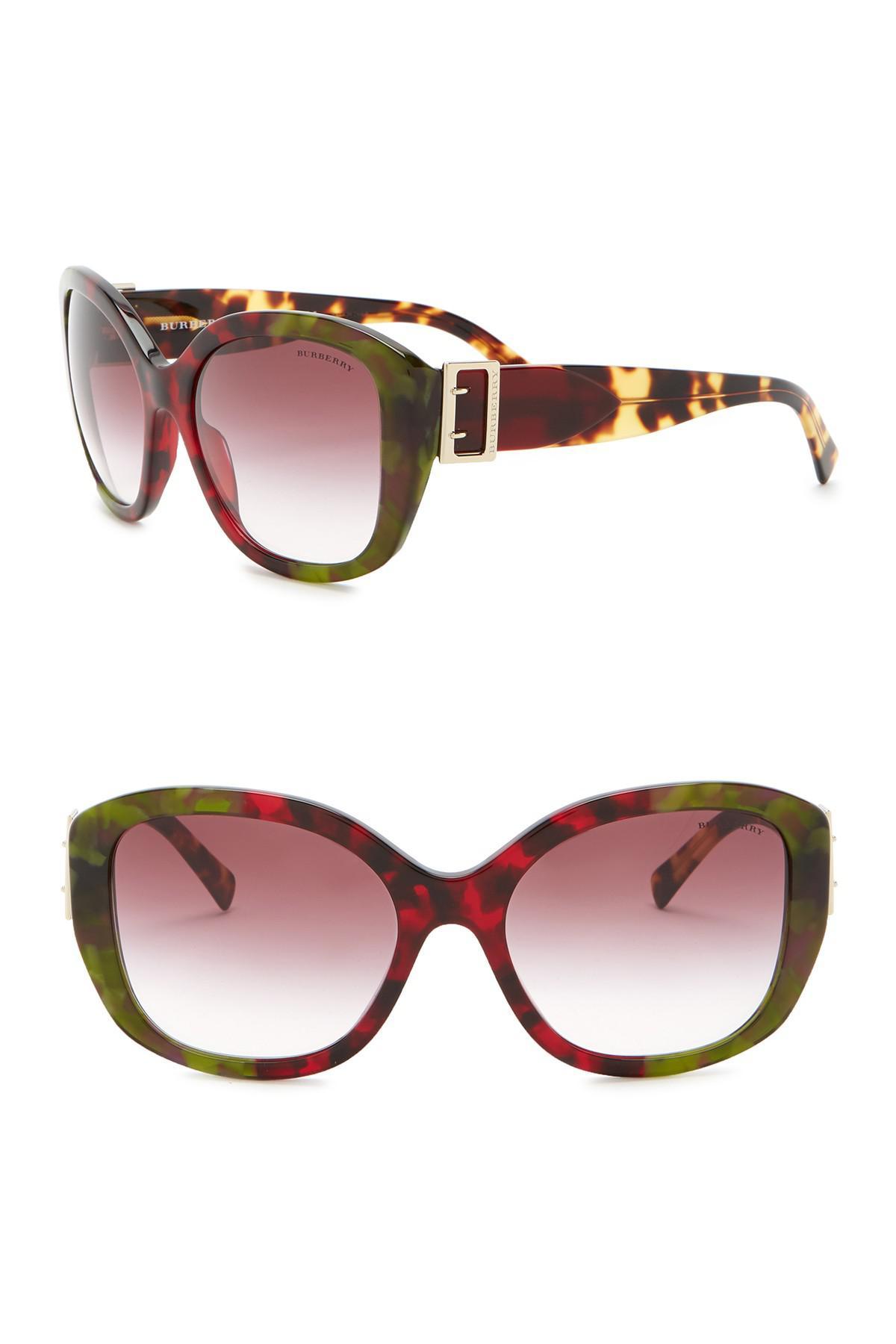 e7f3b1947b7f Lyst - Burberry 57mm Oversized Sunglasses
