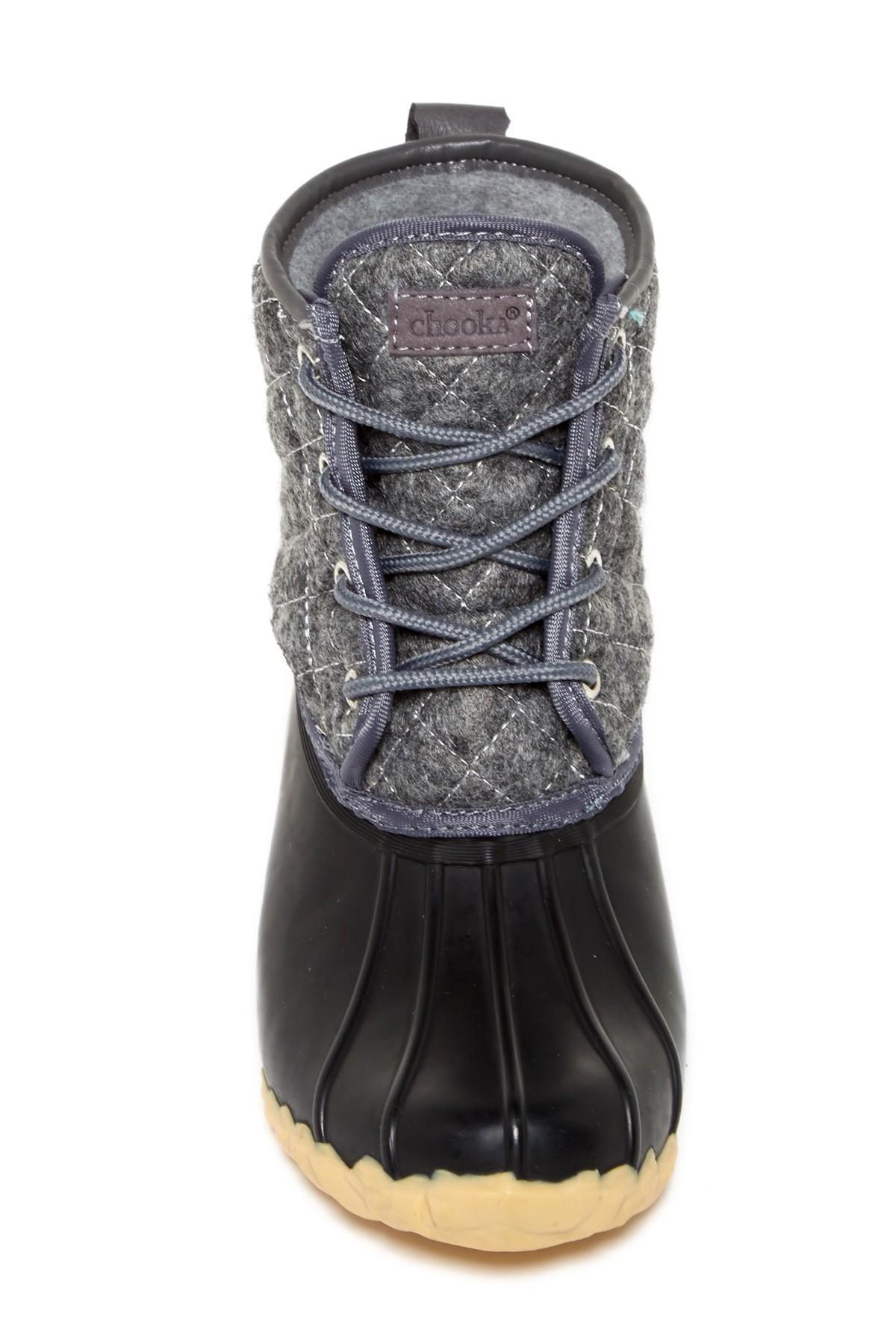 Lyst Chooka Eastlake Quilted Duck Boot Waterproof In Gray
