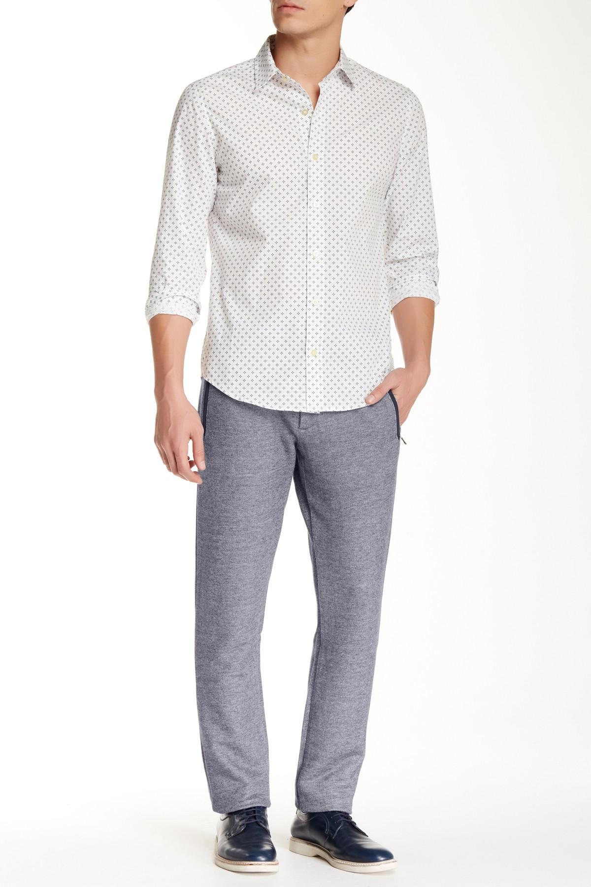 lyst parke ronen mont blanc trouser in blue for men. Black Bedroom Furniture Sets. Home Design Ideas