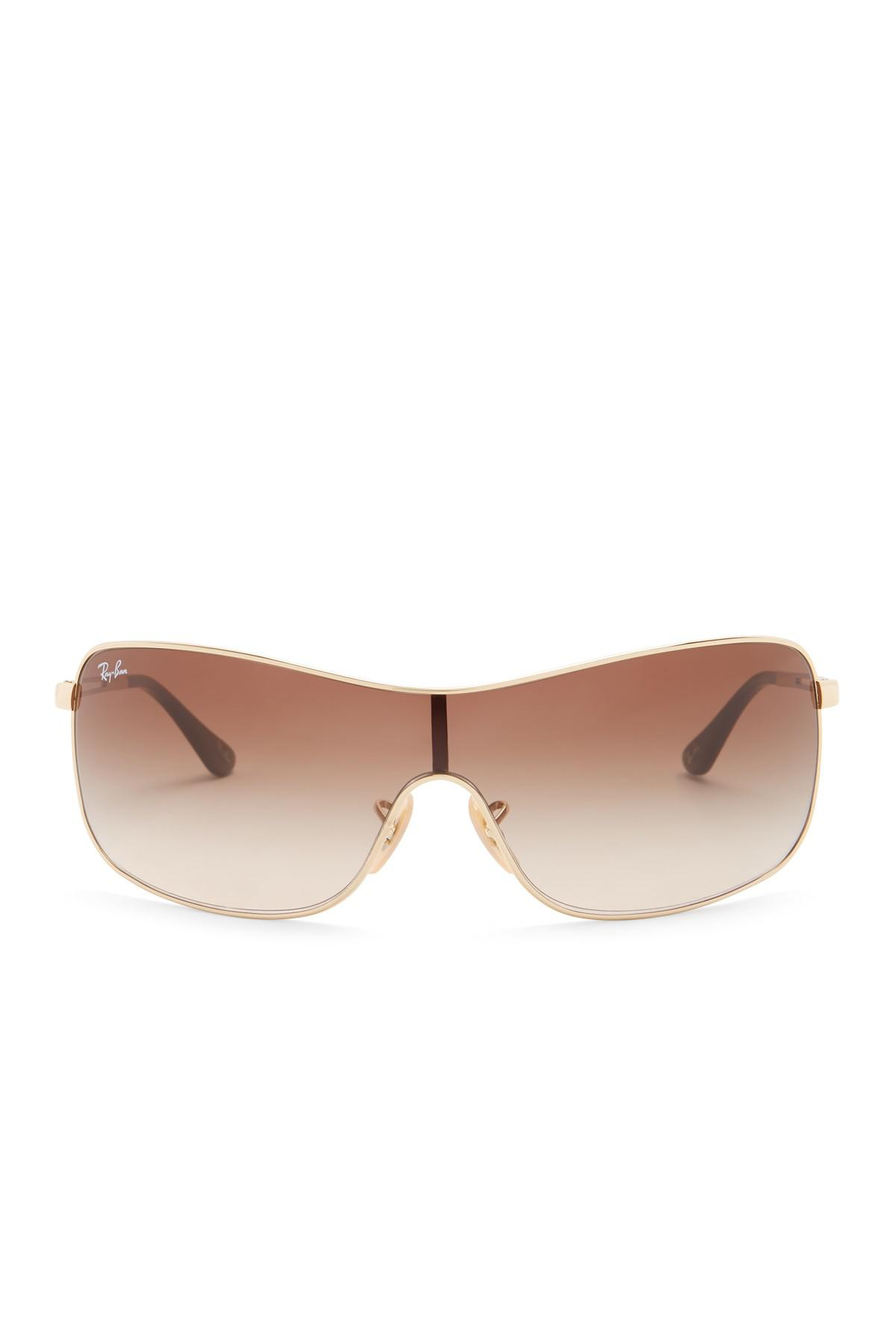 6530c91731d Lyst - Ray-Ban 73mm Shield High Street Sunglasses in Brown