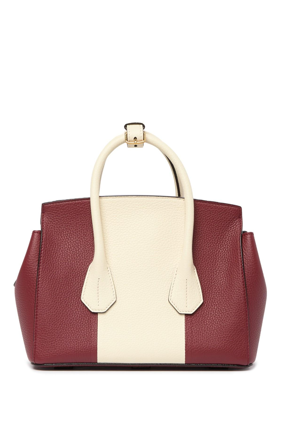 f09771b911 Lyst - Bally Colorblock Leather Mini Top Handle Bag in Red