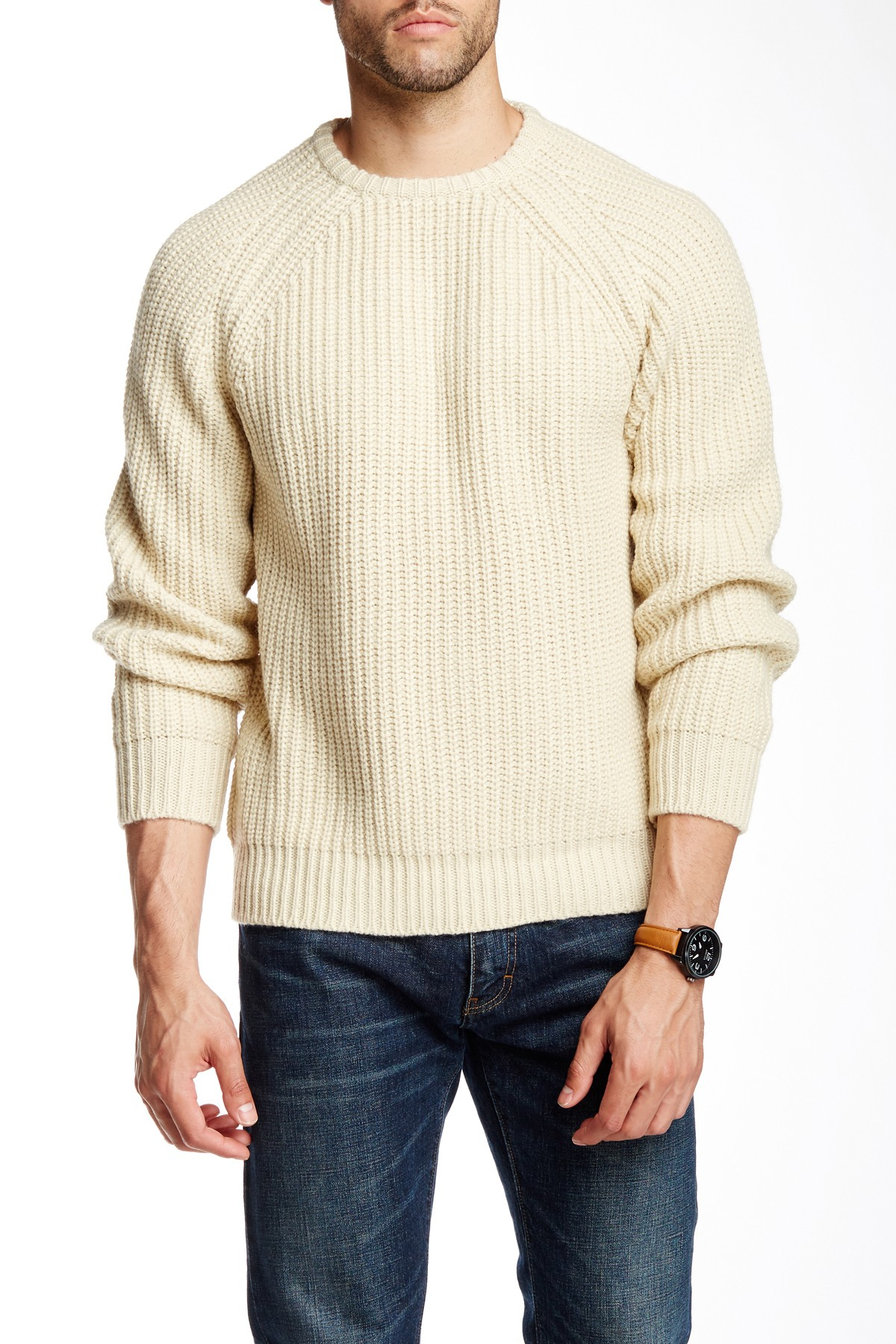 Lyst - Obey Mitte Knit Sweater in Natural for Men