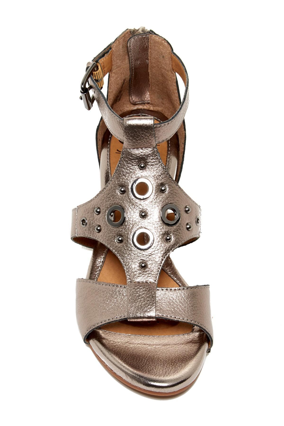 S 246 Fft Gretchen Wedge Sandal In Brown Lyst