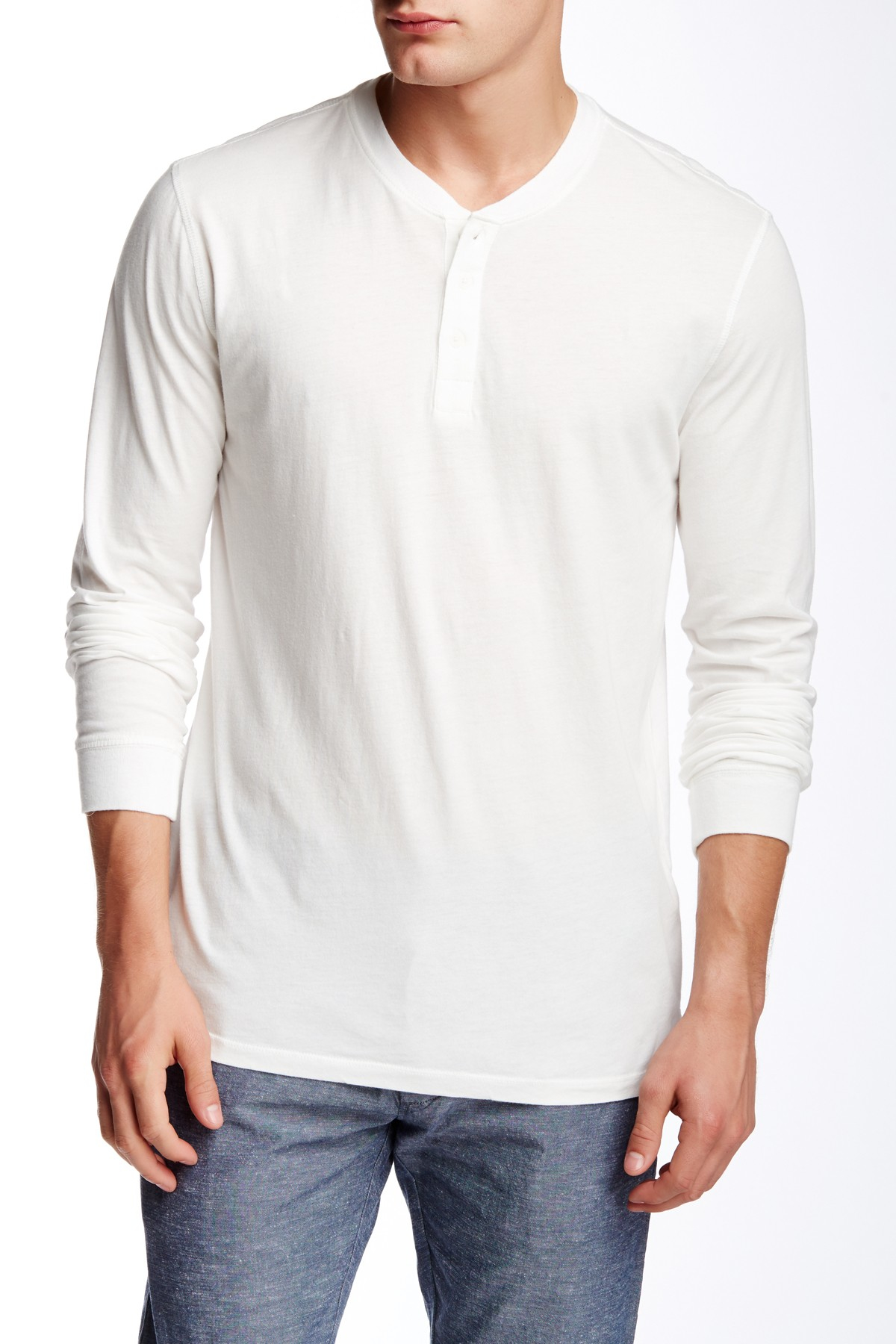 Slate And Stone Clothing : Slate stone long sleeve henley tee in white for men lyst