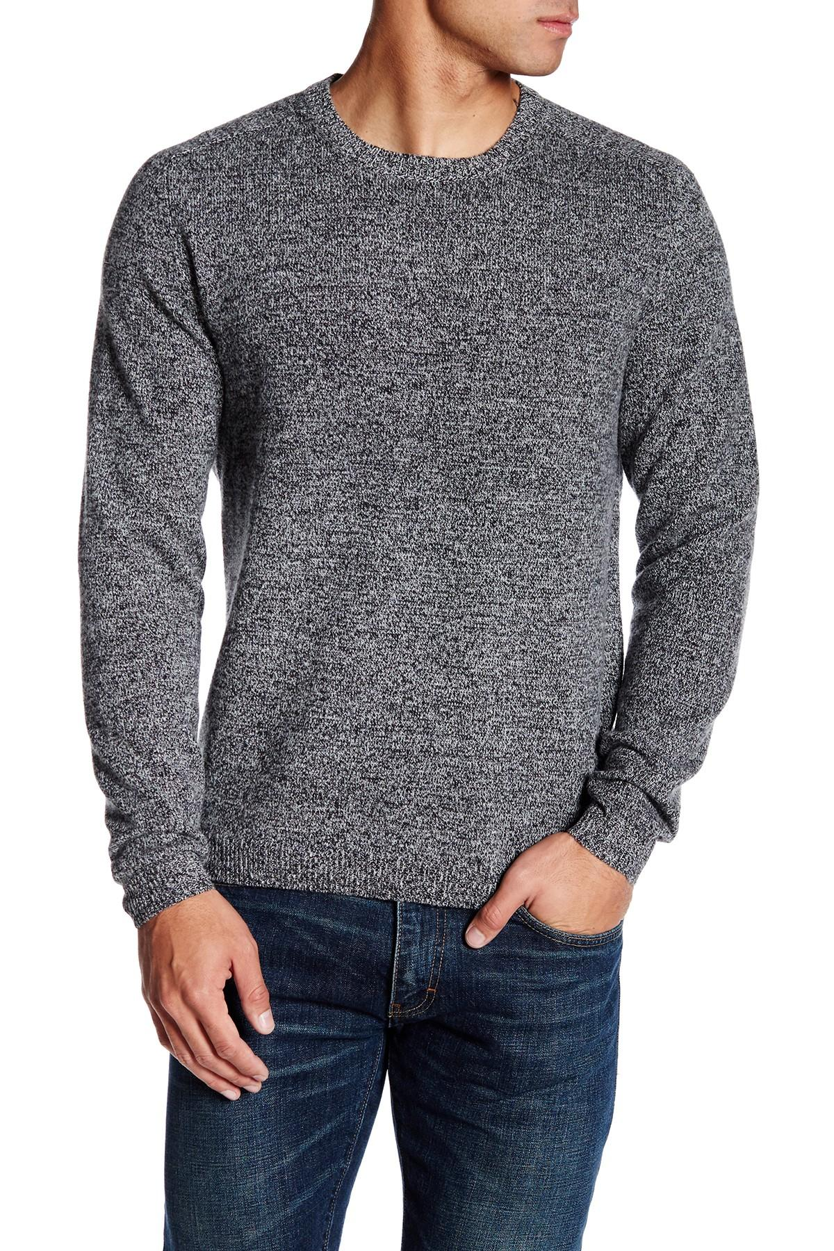 Slate And Stone Clothing : Lyst slate stone melange sweater in gray for men